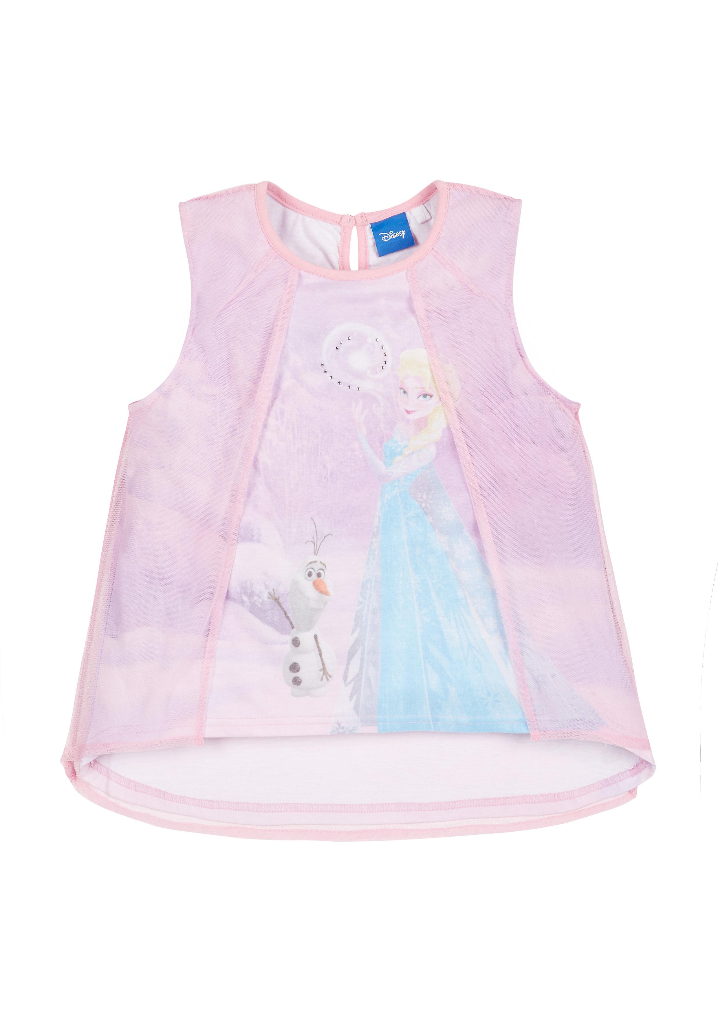 Mothercare   Girls Disney Frozen Sublimation Blouse - Pink