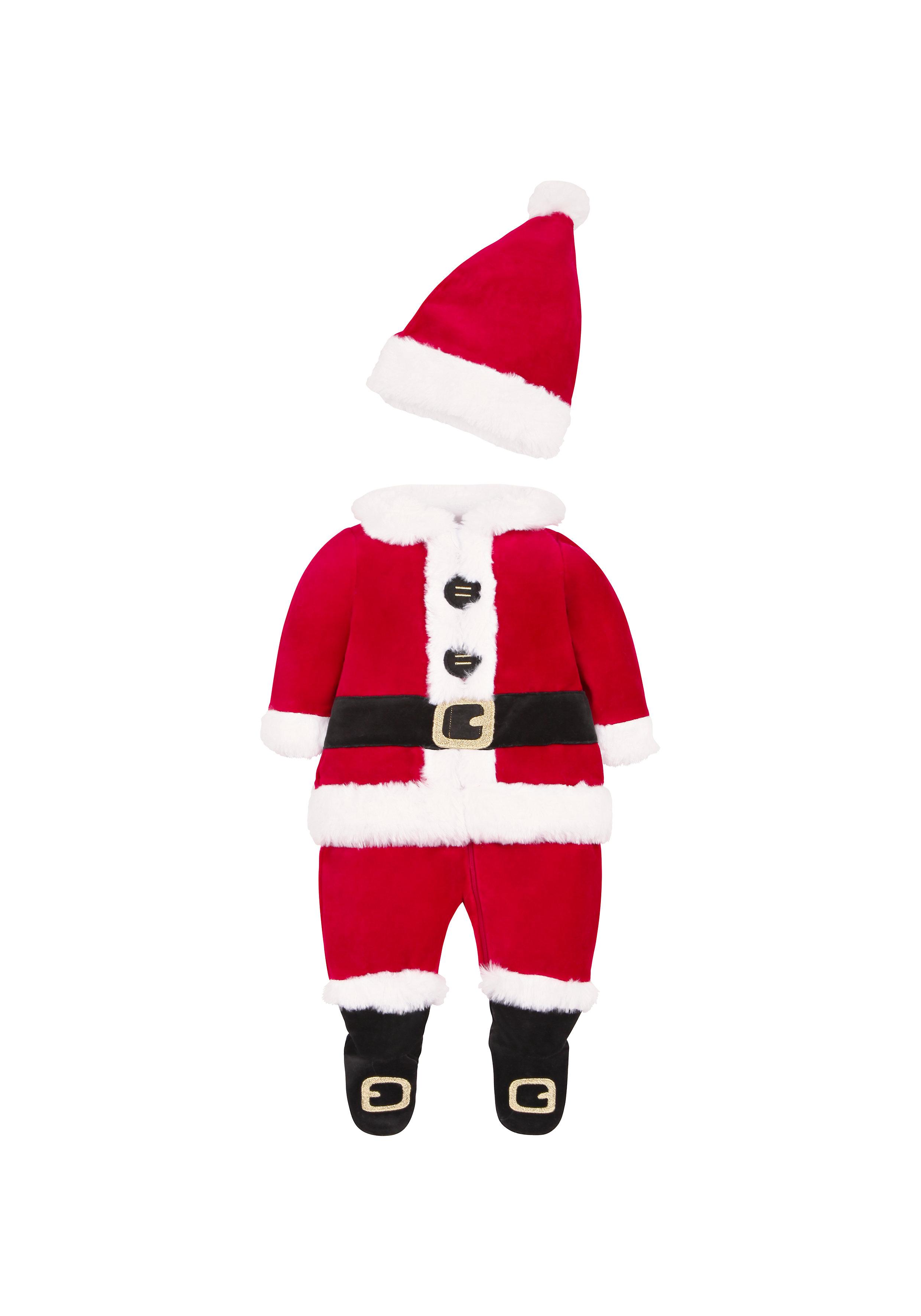 Mothercare | Boys Santa Dress Up Romper - Red