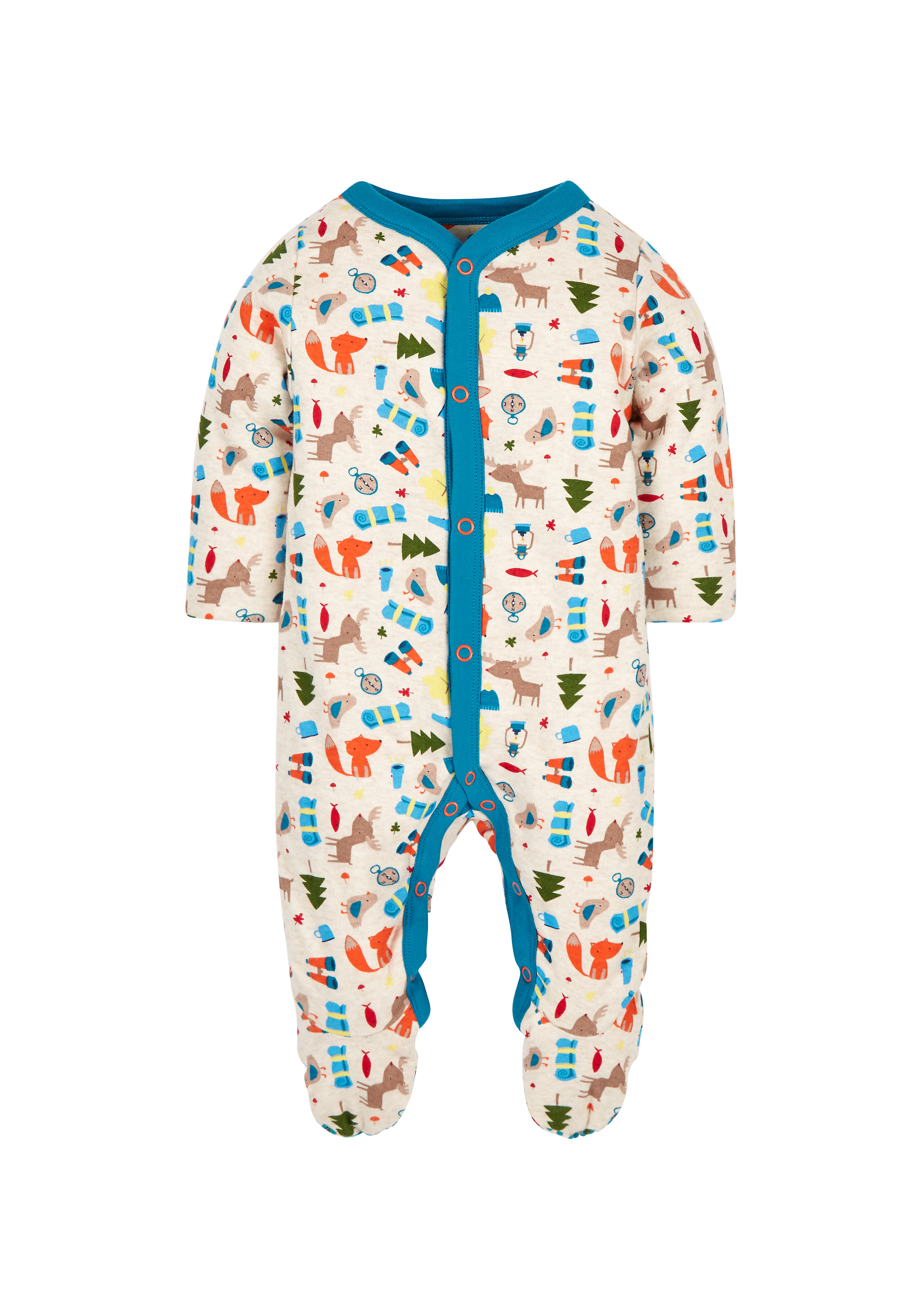 Mothercare | Boys Full Sleeves Sleepsuits Wadded - Multicolor