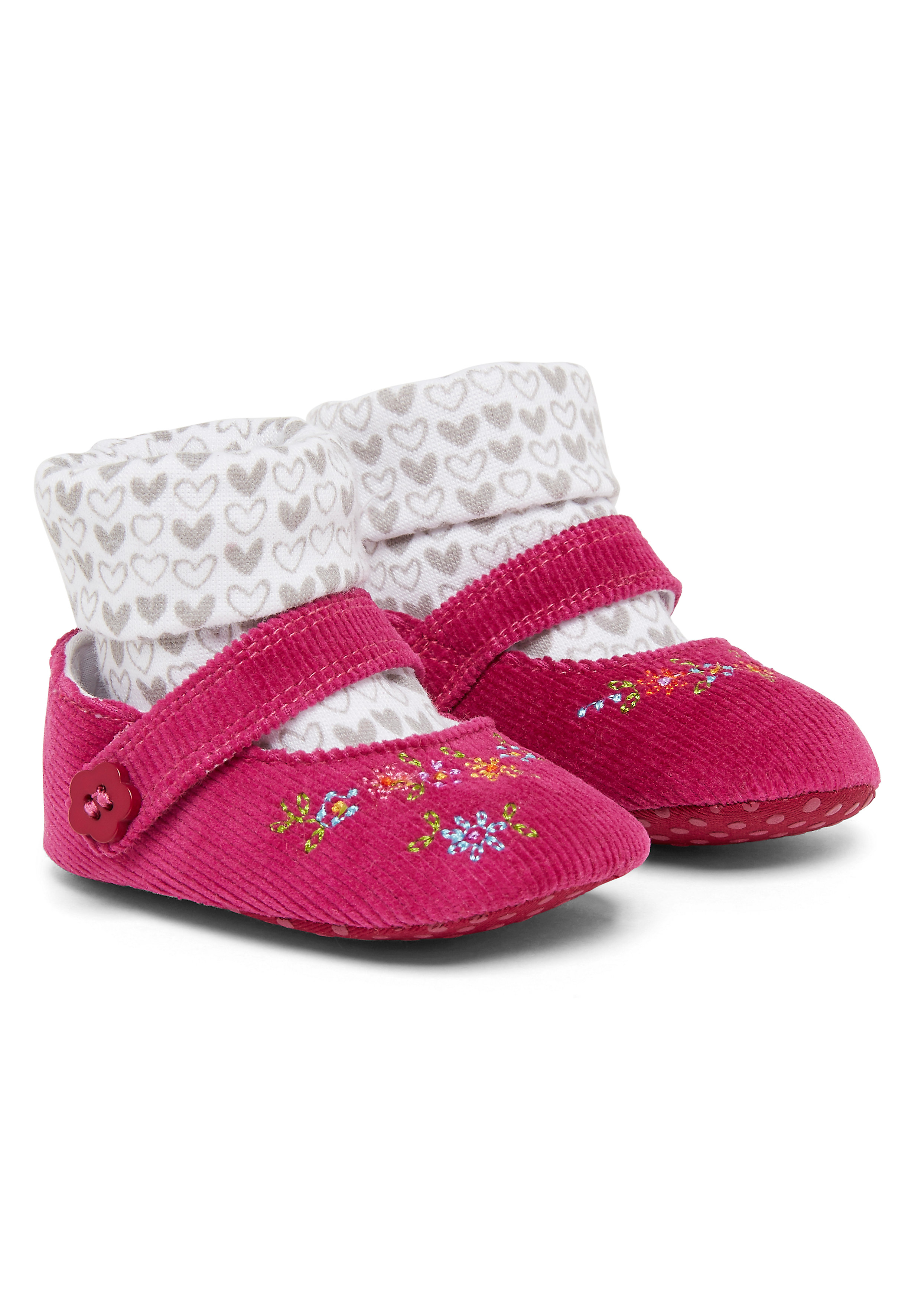 Mothercare | Girls Cord Sock Top Shoes - Pink