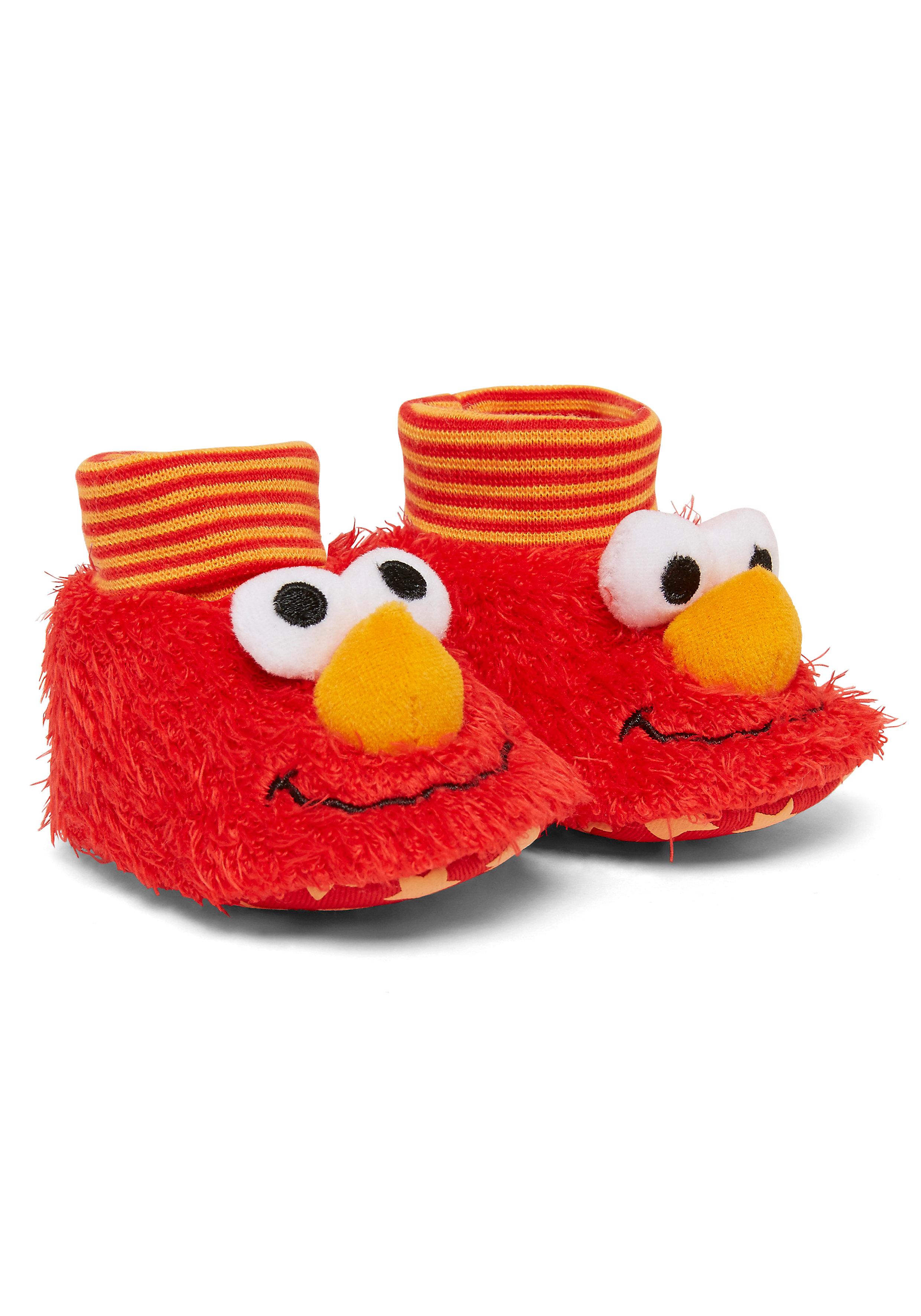 Mothercare | Unisex Sesame Street Elmo Booties - Red