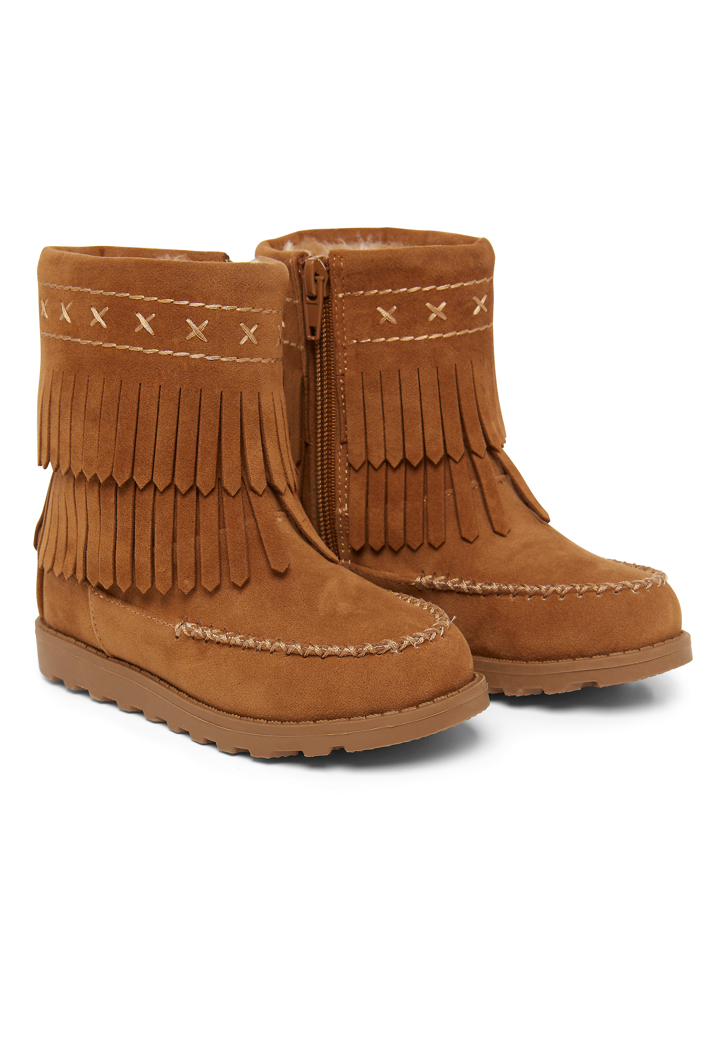 Mothercare | Girls Tassle Boots - Brown