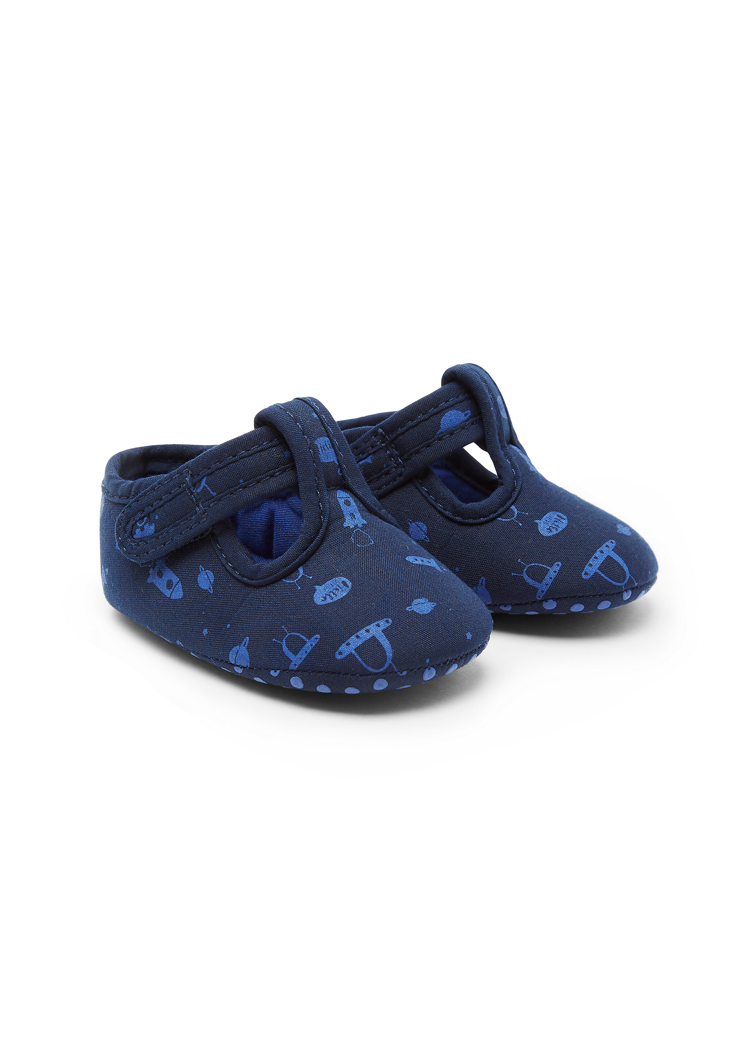 Mothercare   Boys Space T-Bar Booties - Blue