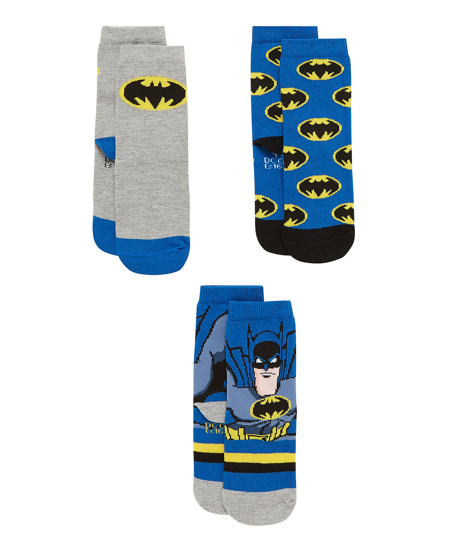 Mothercare   Boys  Socks Batman Design - Pack Of 3 - Multicolor