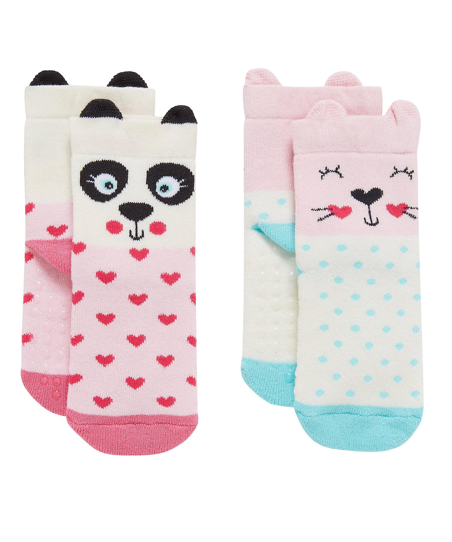 Mothercare | Girls Socks 3D Details - Pack Of 2 - Multicolor