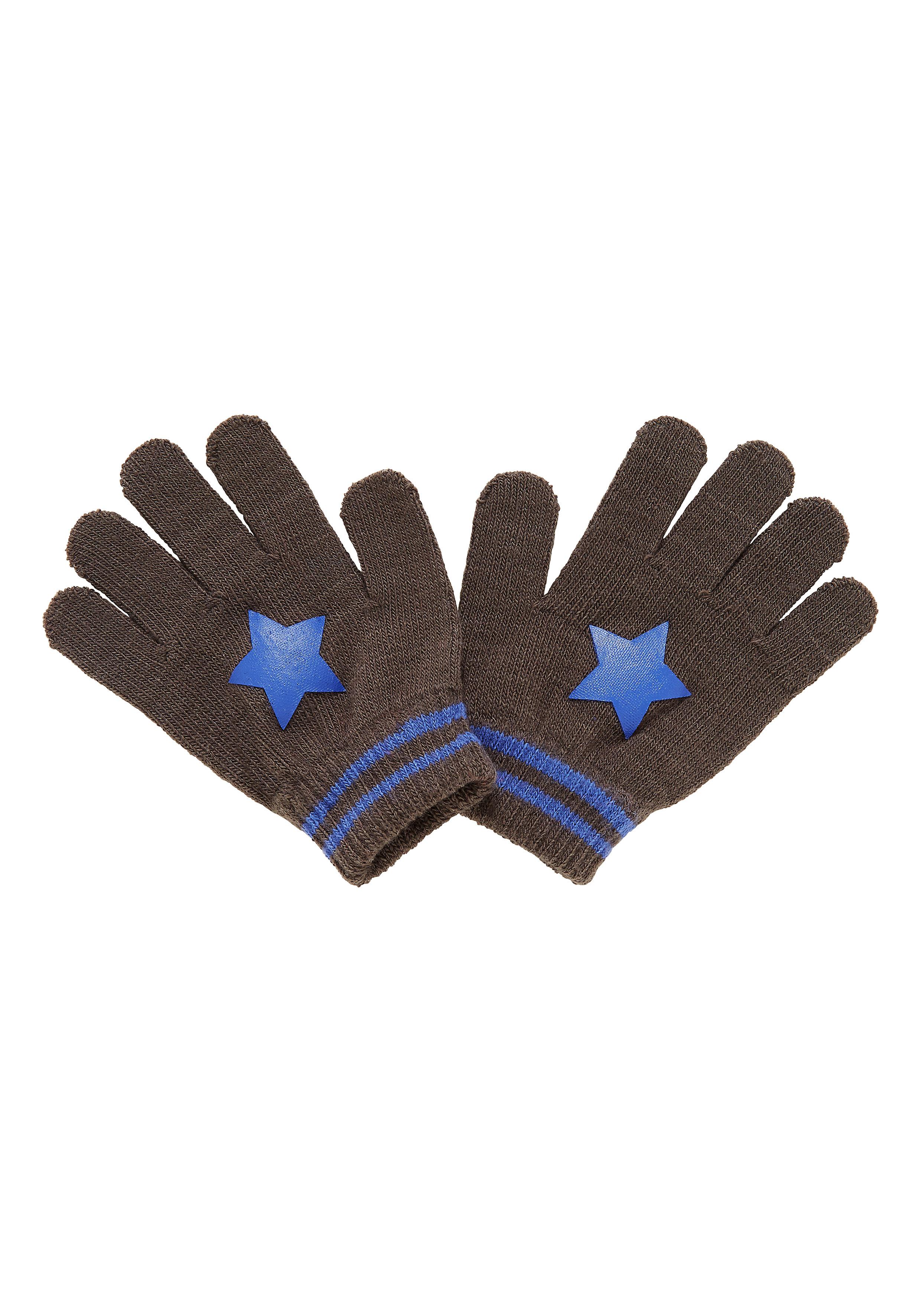 Mothercare | Boys Gloves Star Print - Grey
