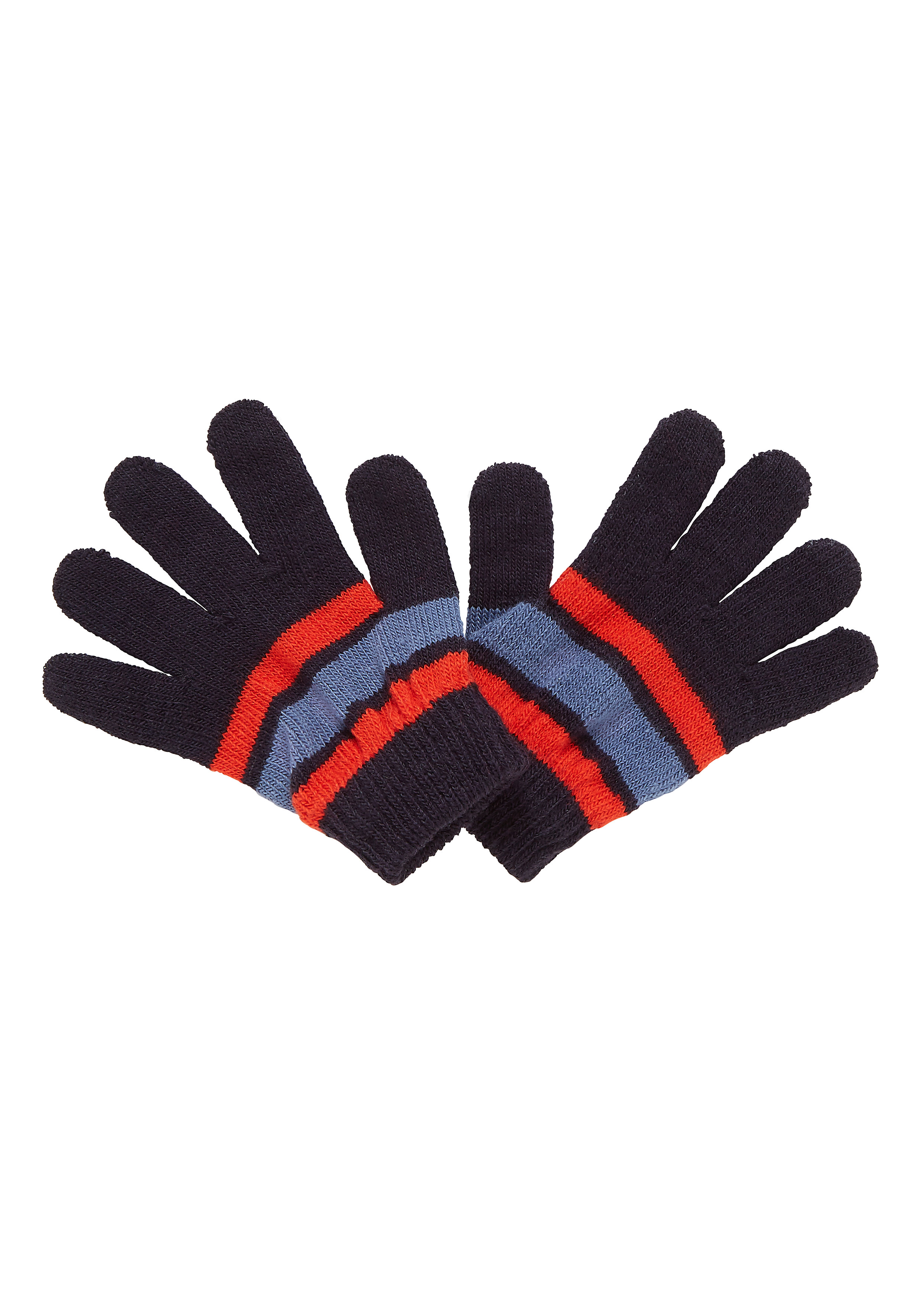 Mothercare | Boys Gloves Striped - Navy