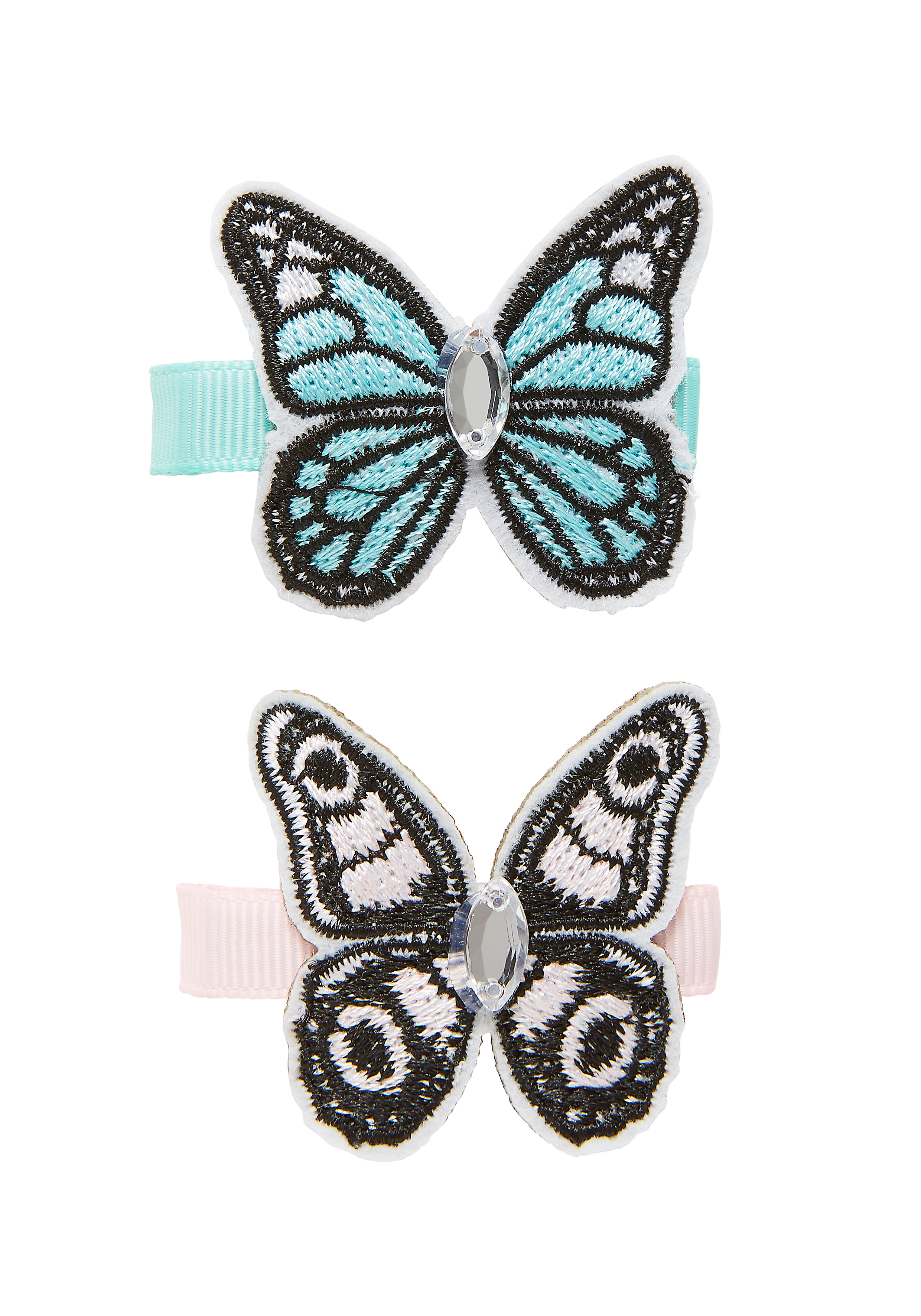 Mothercare   Girls Hair Clip Butterfly Design - Pack Of 2 - Multicolor