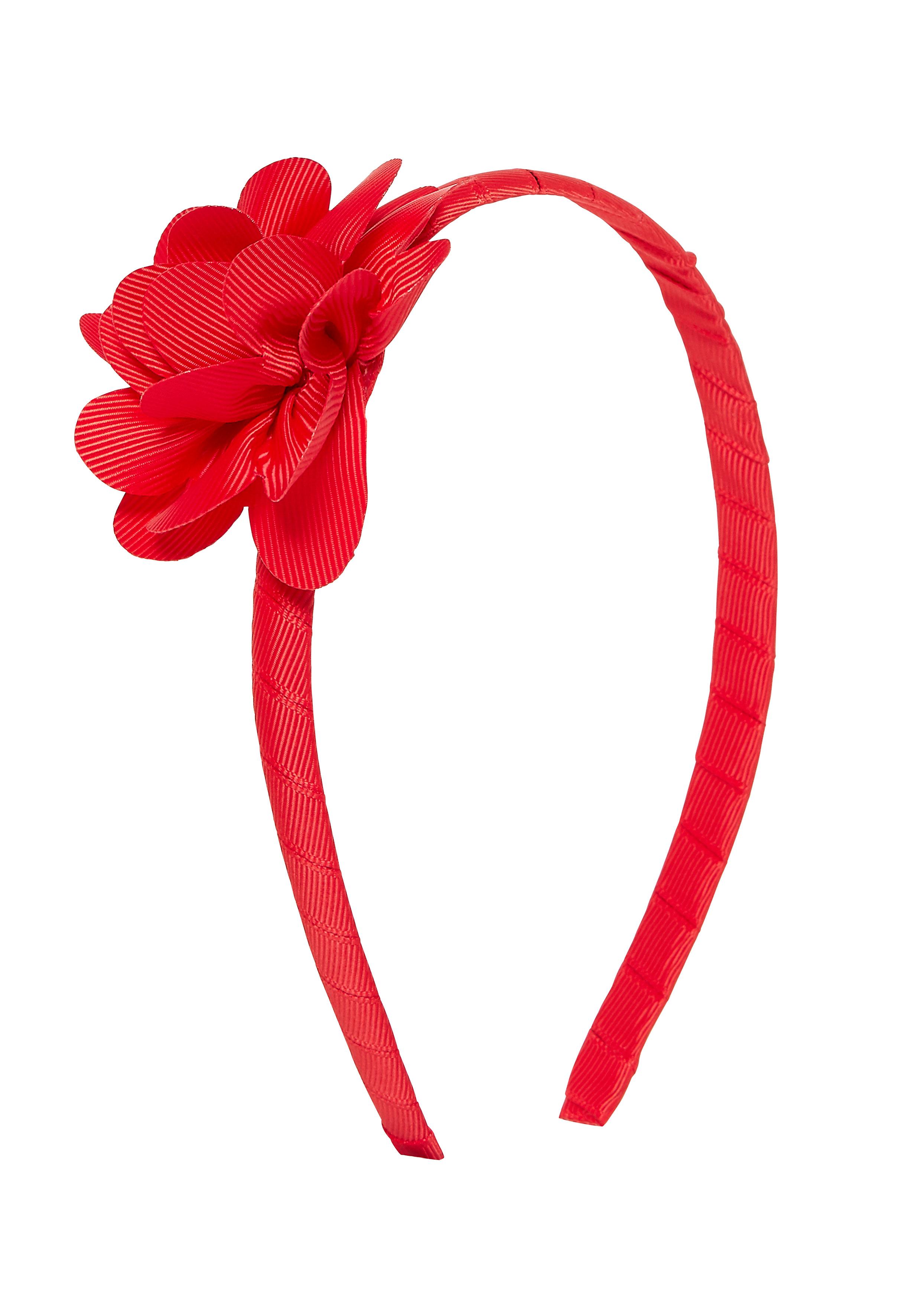 Mothercare   Girls Hairband Flower Detail - Red