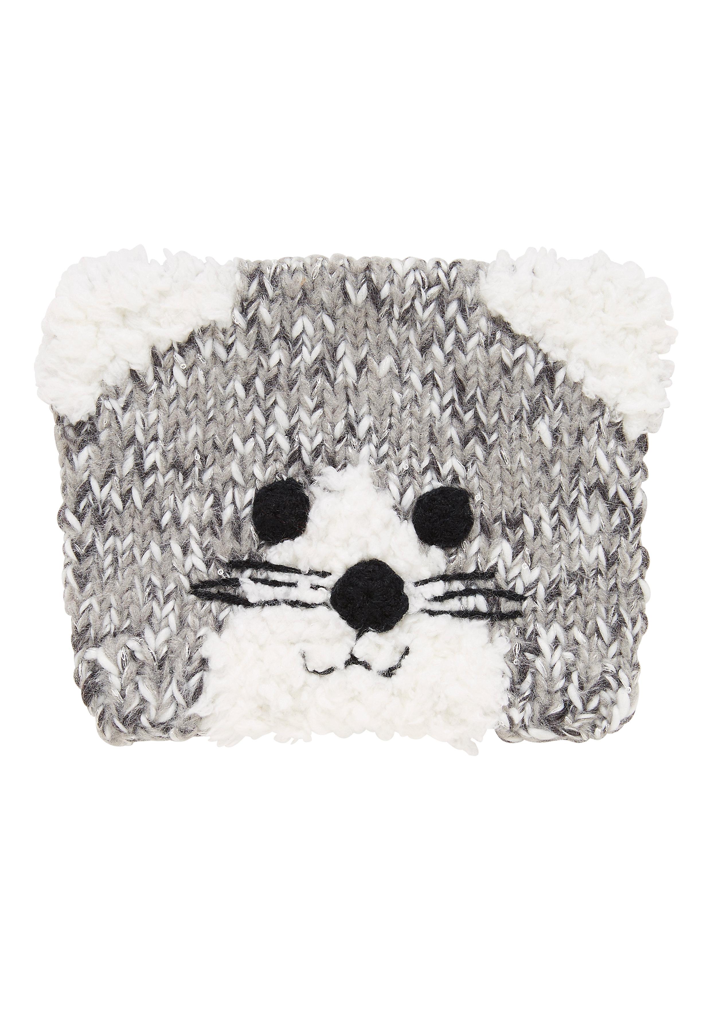 Mothercare   Girls Novelty Cat Beanie - Grey