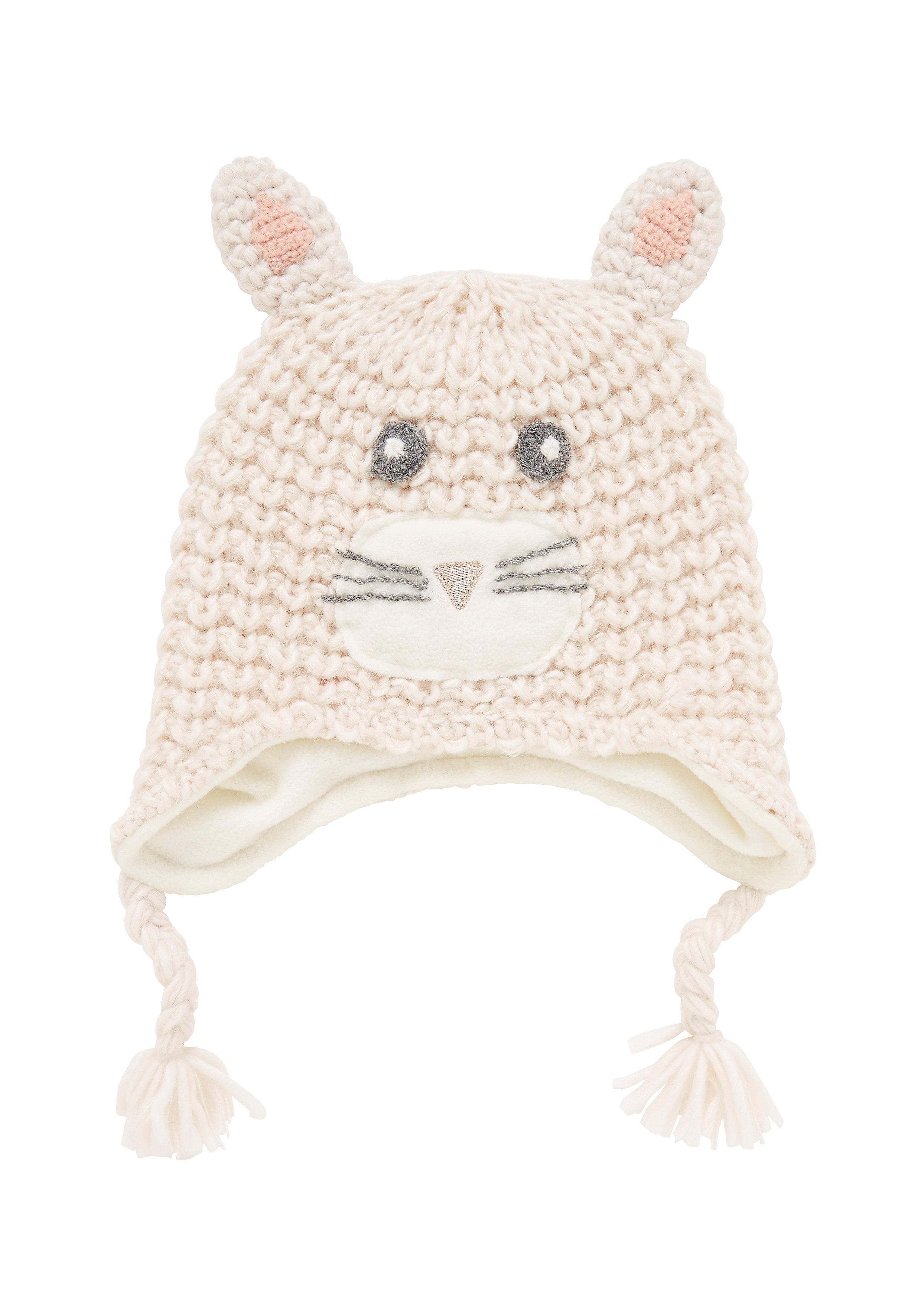 Mothercare | Girls Hat 3D Ear Detail - Cream