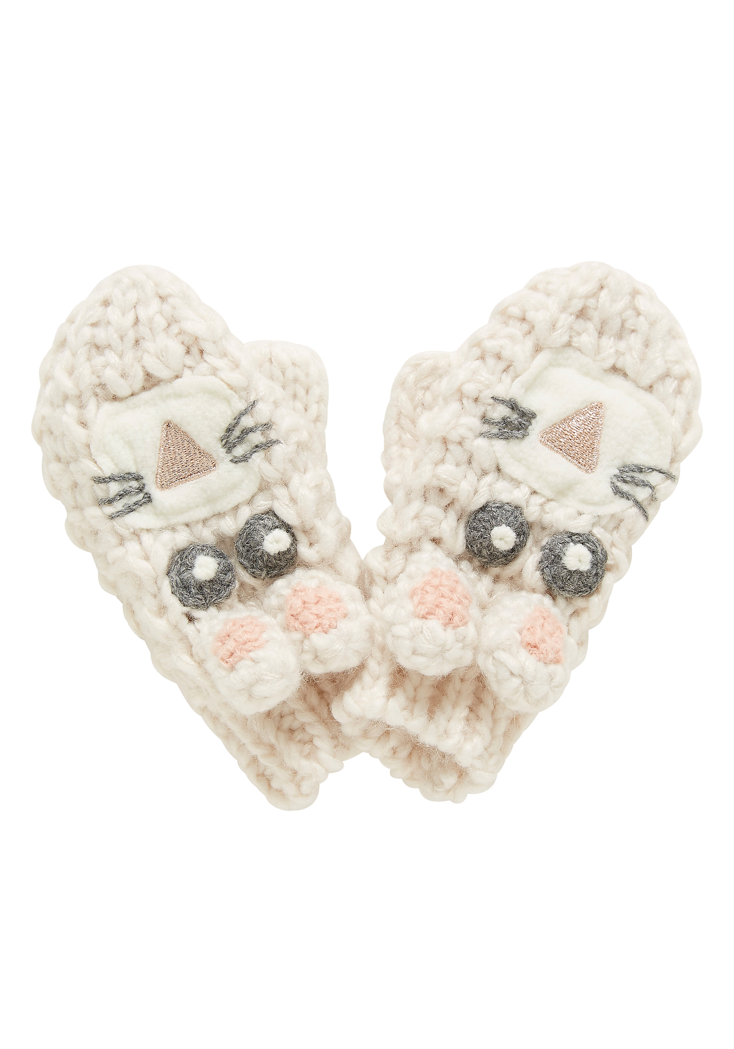 Mothercare   Girls Novelty Rabbit Mitts - Cream