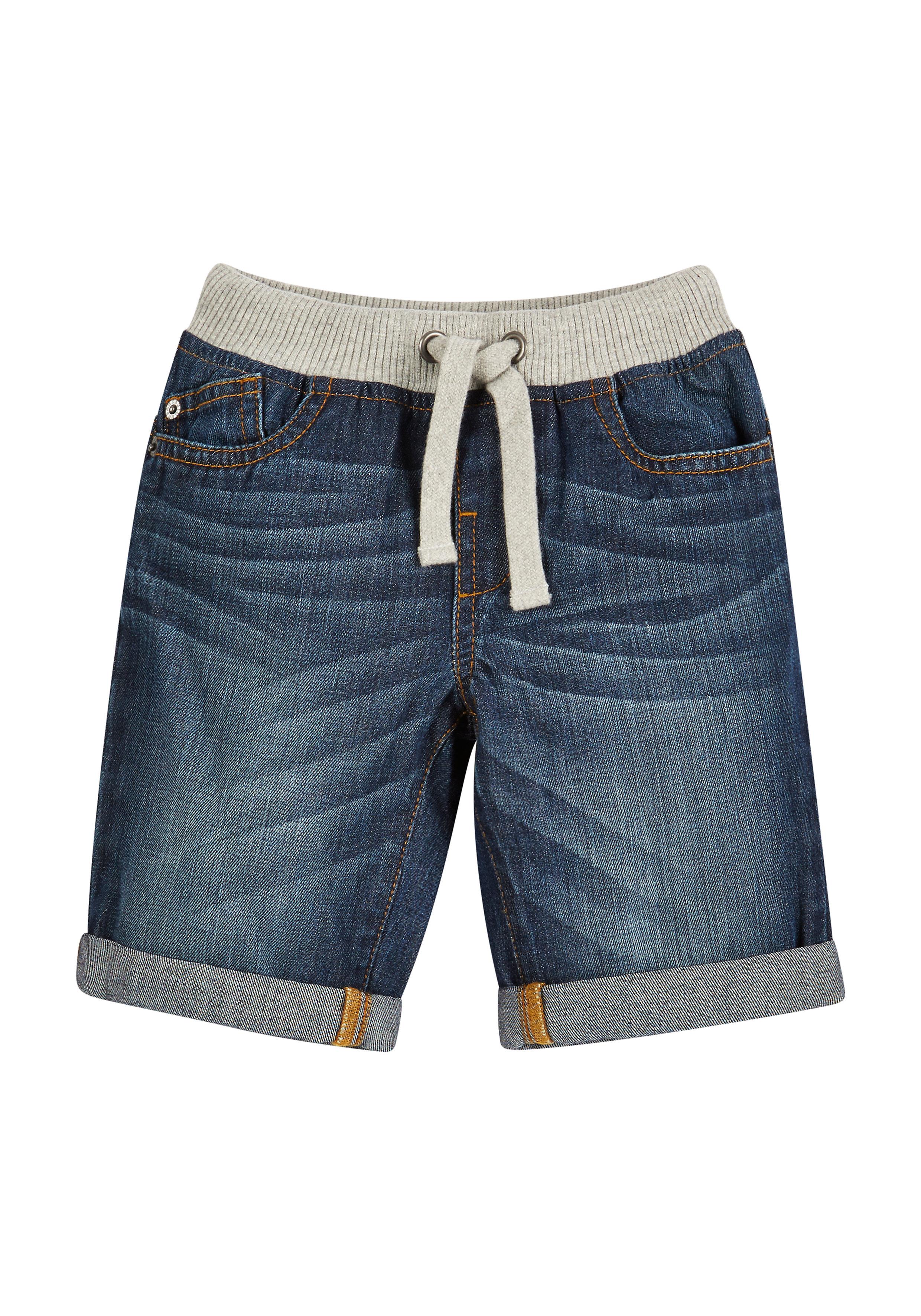 Mothercare | Boys Denim Shorts Rib Waist - Blue