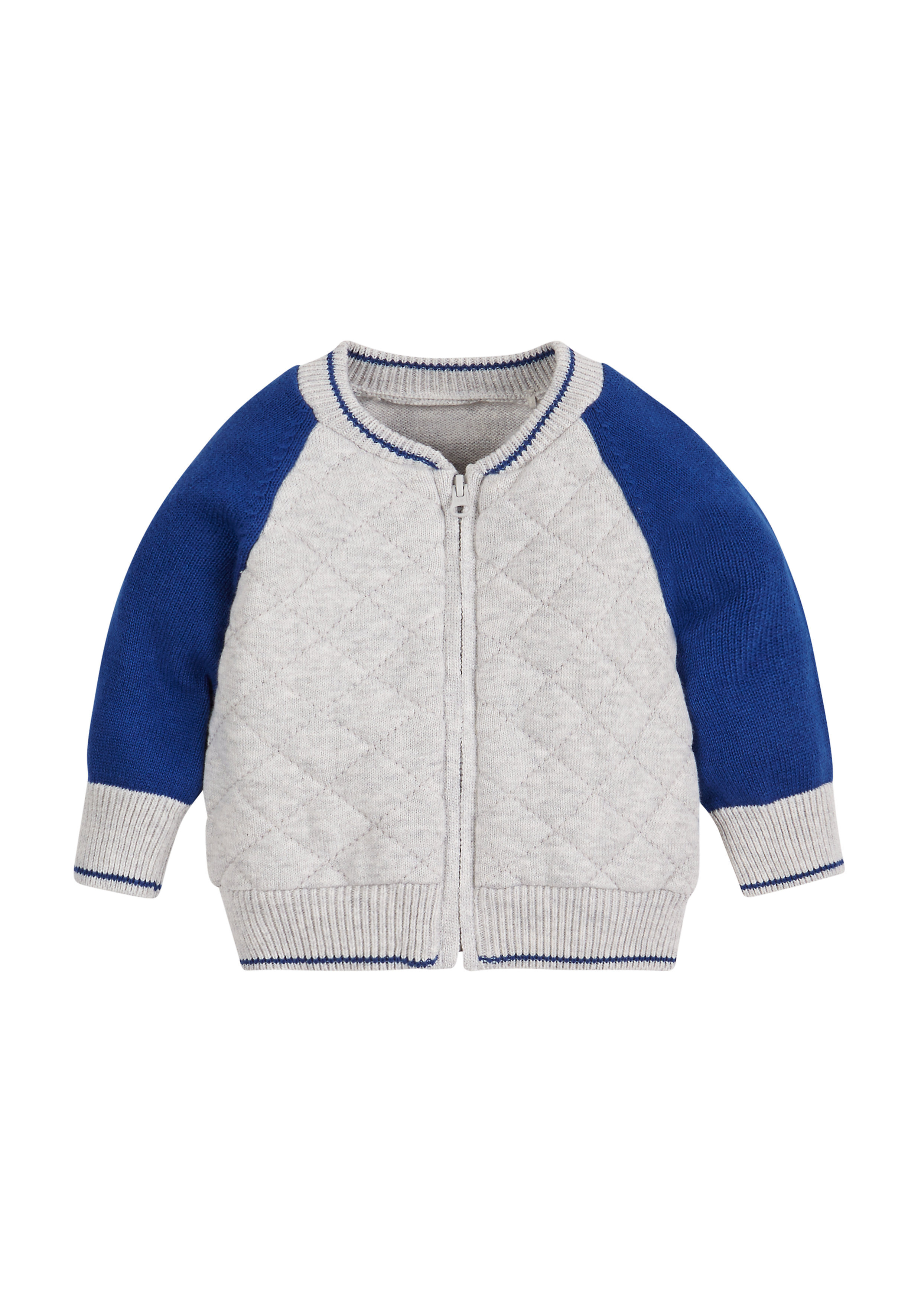 Mothercare   Boys Quilted Cardigan - Grey