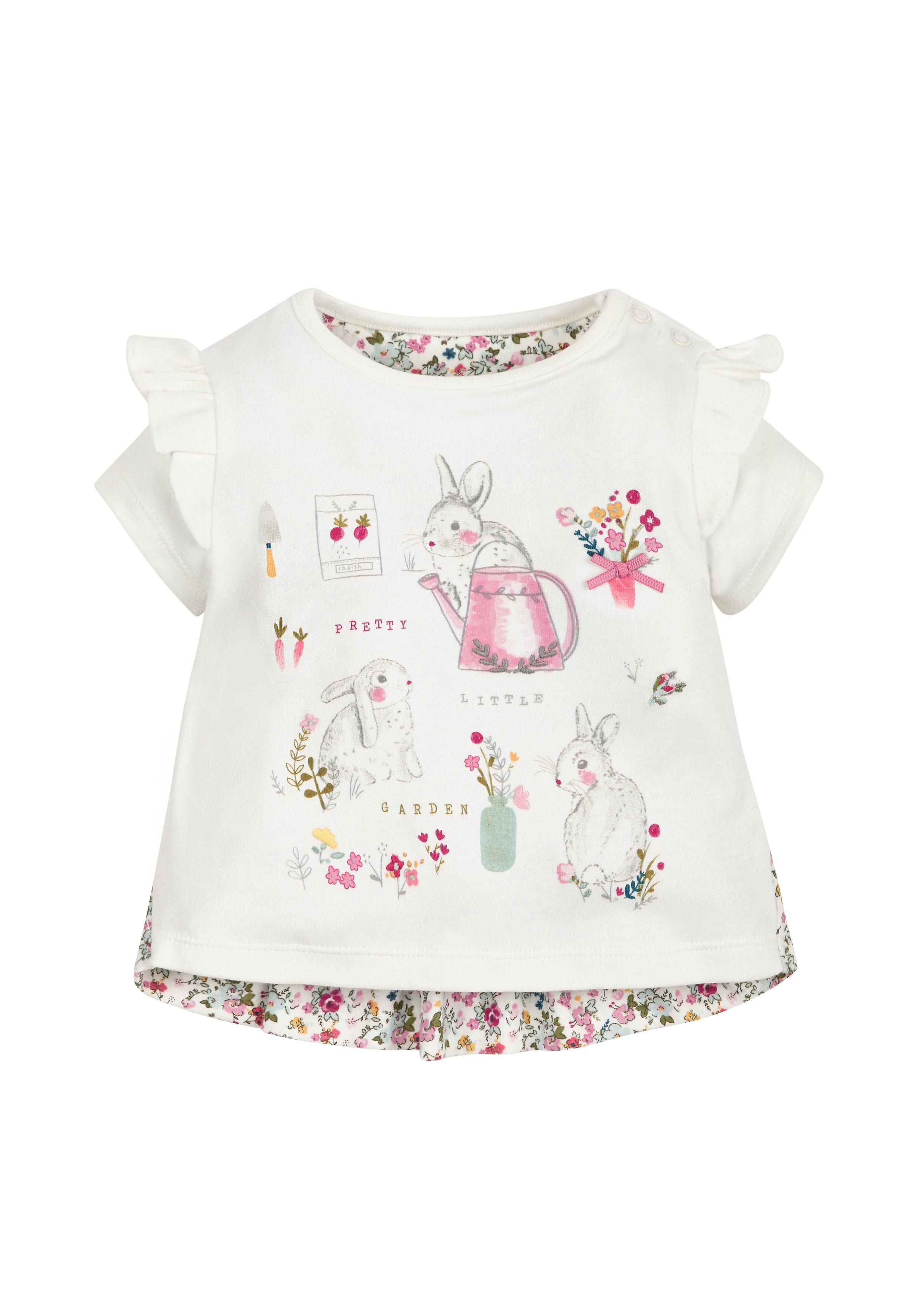 Mothercare | Girls Bunny T-Shirt  - Cream
