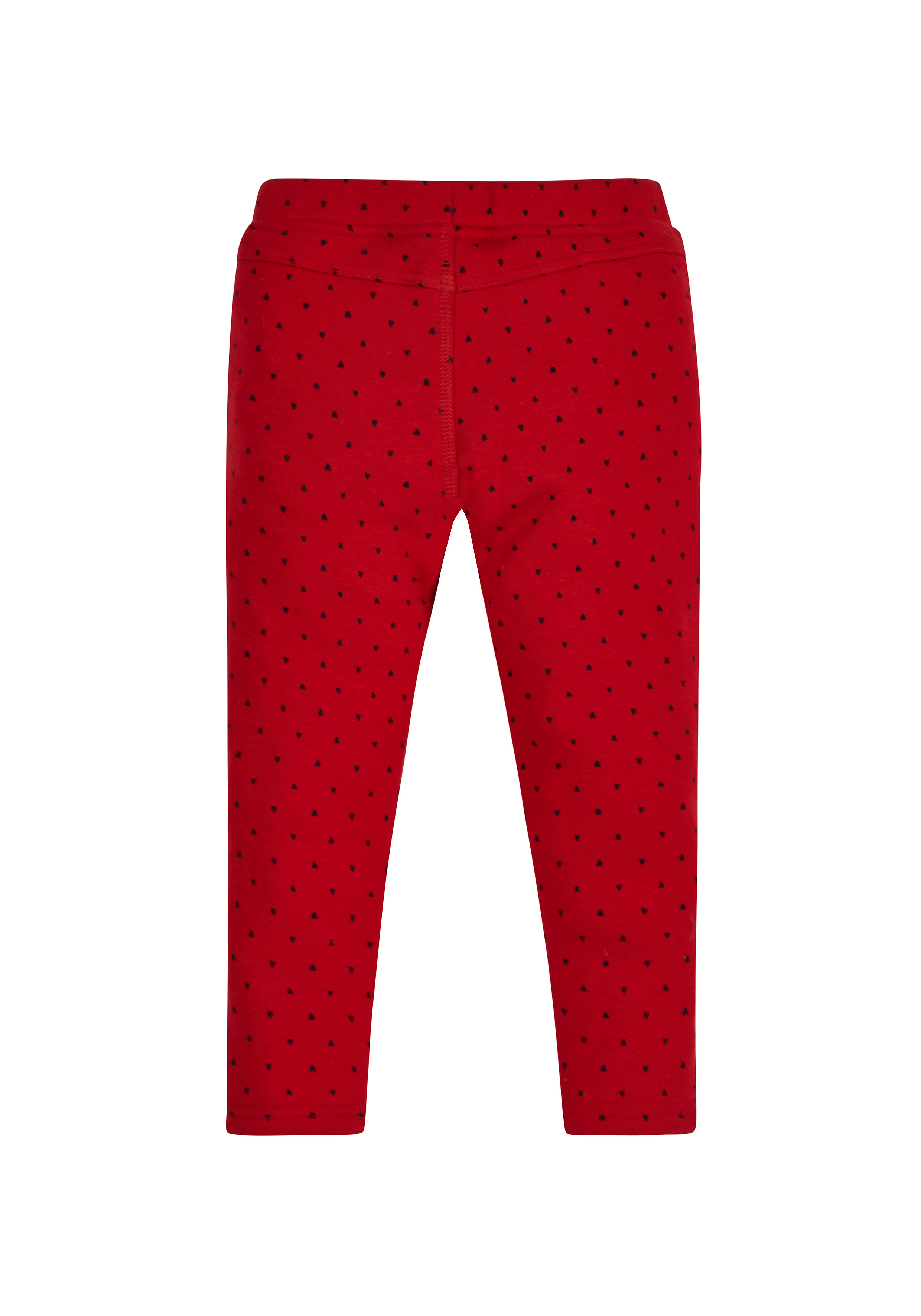 Mothercare   Girls Heart Jeggings - Red