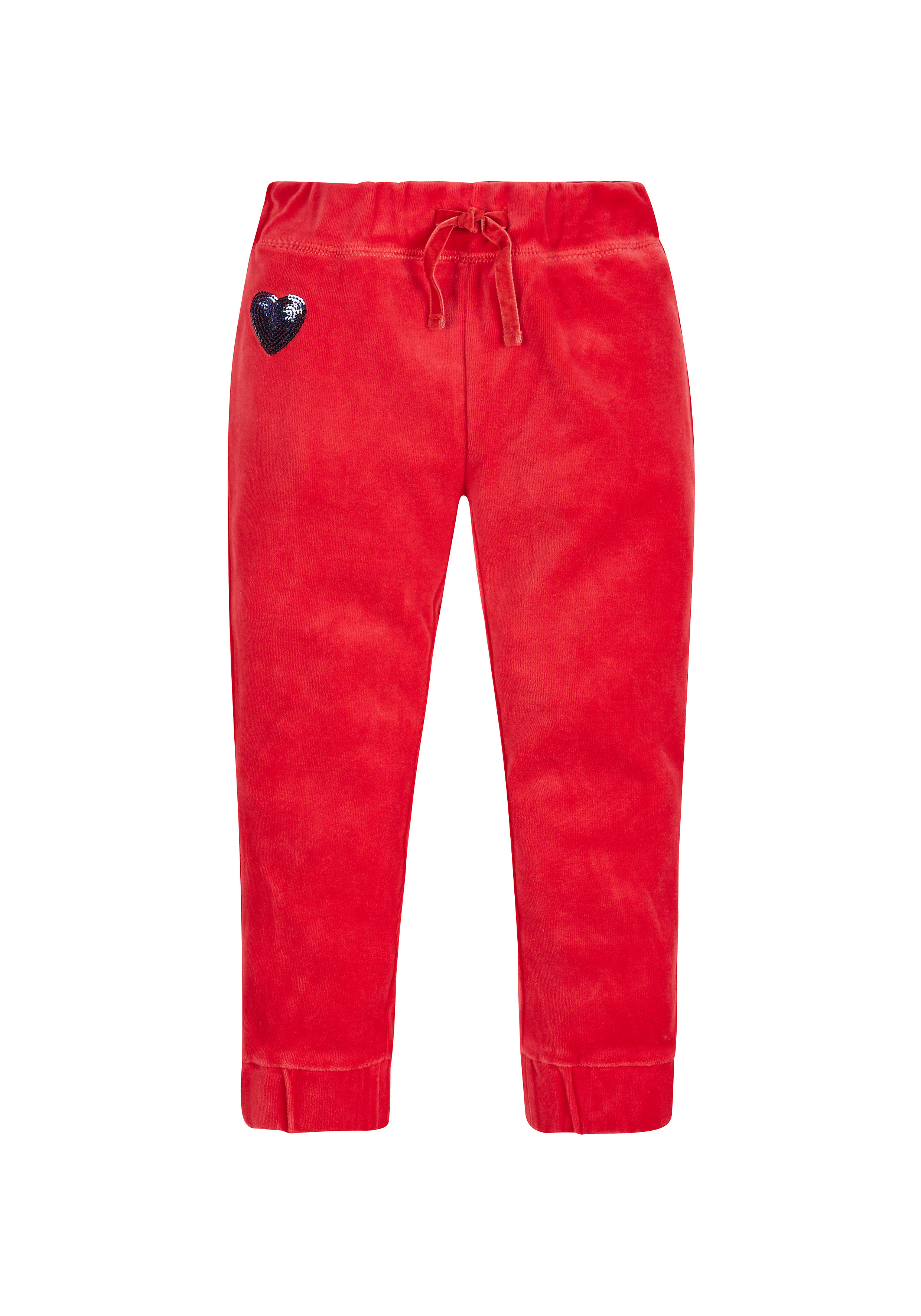 Mothercare | Girls Velour Joggers - Red