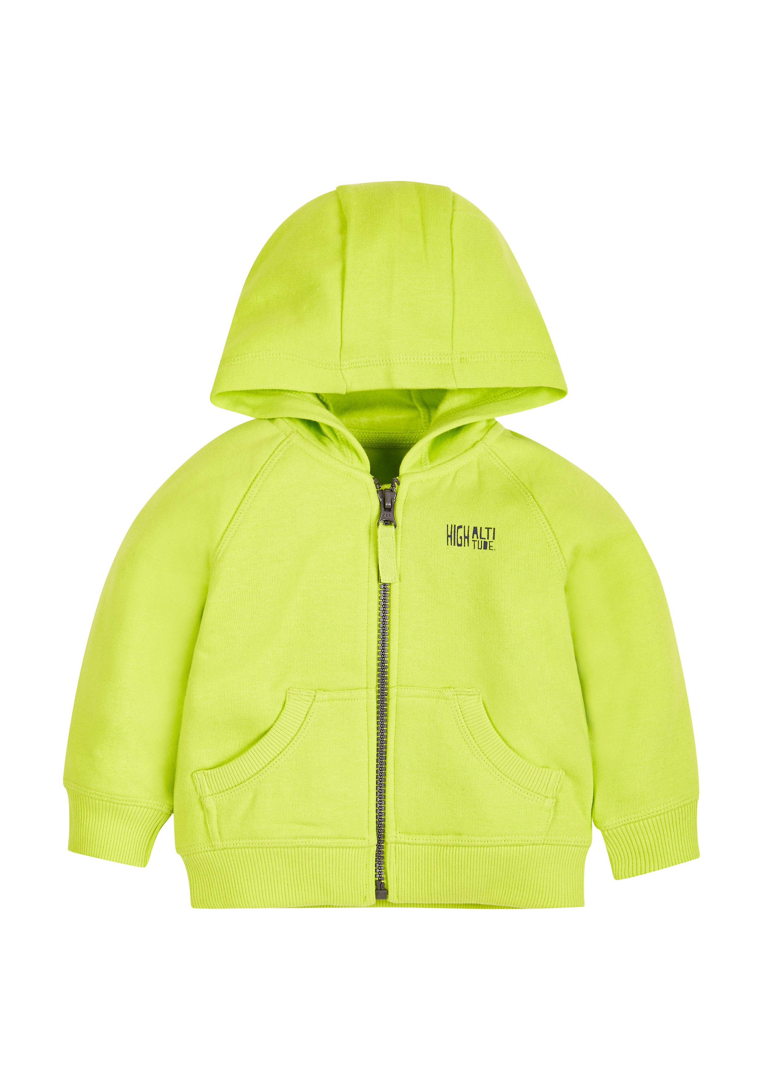 Mothercare | Boys Full Sleeves Hooded Sweatshirt Zip Opening - Lime
