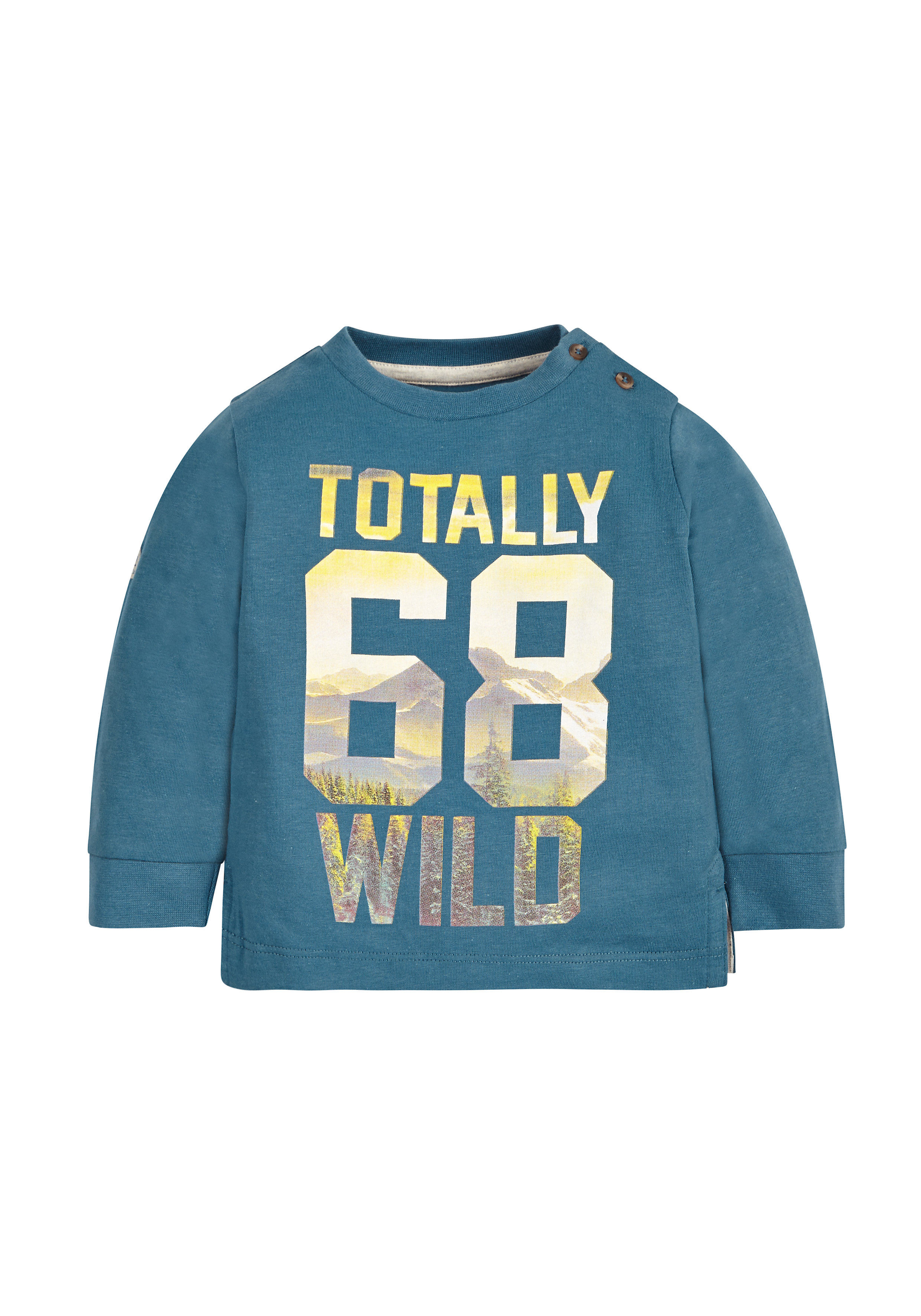 Mothercare | Boys Full Sleeves Sweatshirt Text Print - Blue