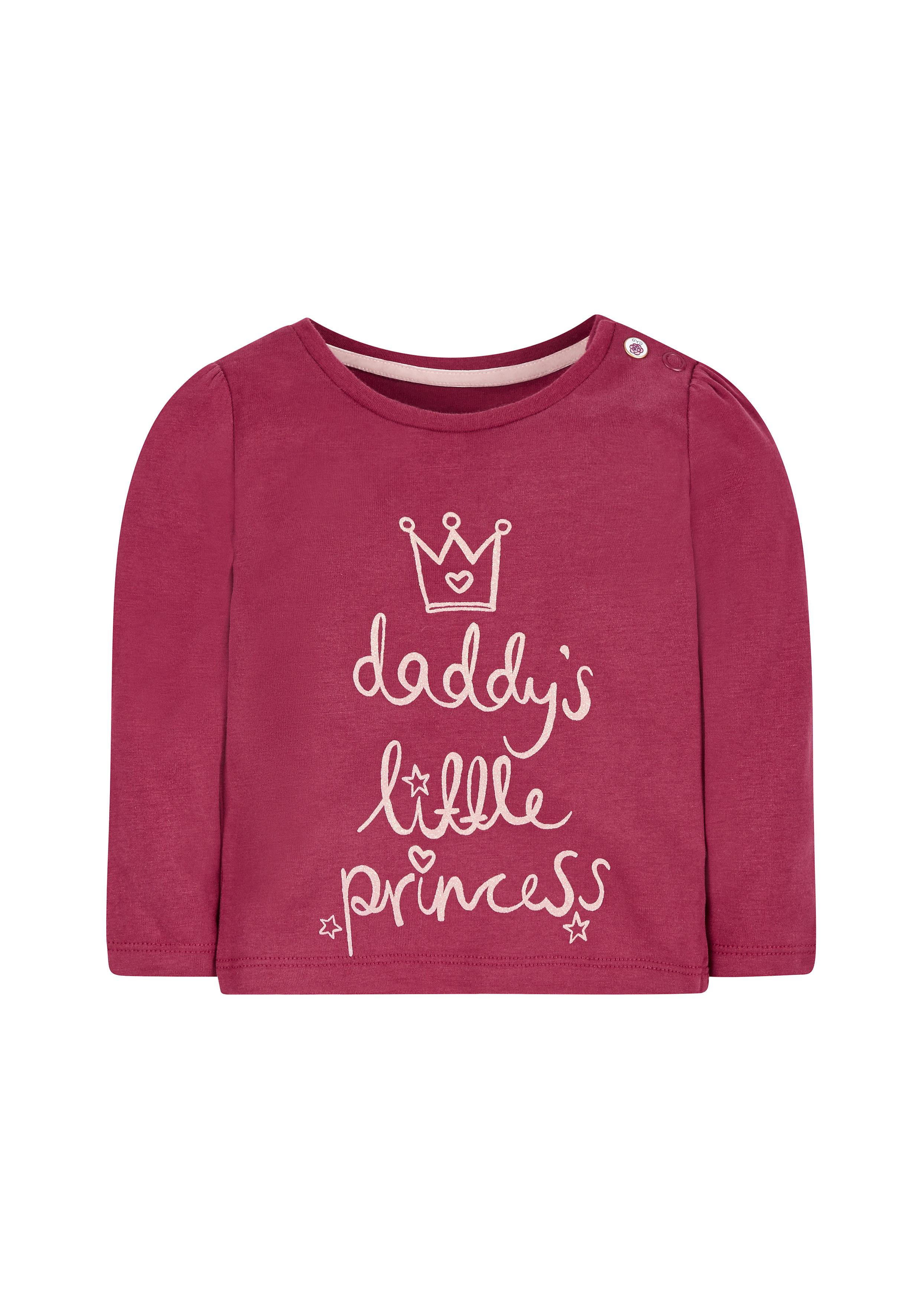 Mothercare | Girls Full Sleeves T-Shirt Slogan Print - Burgundy
