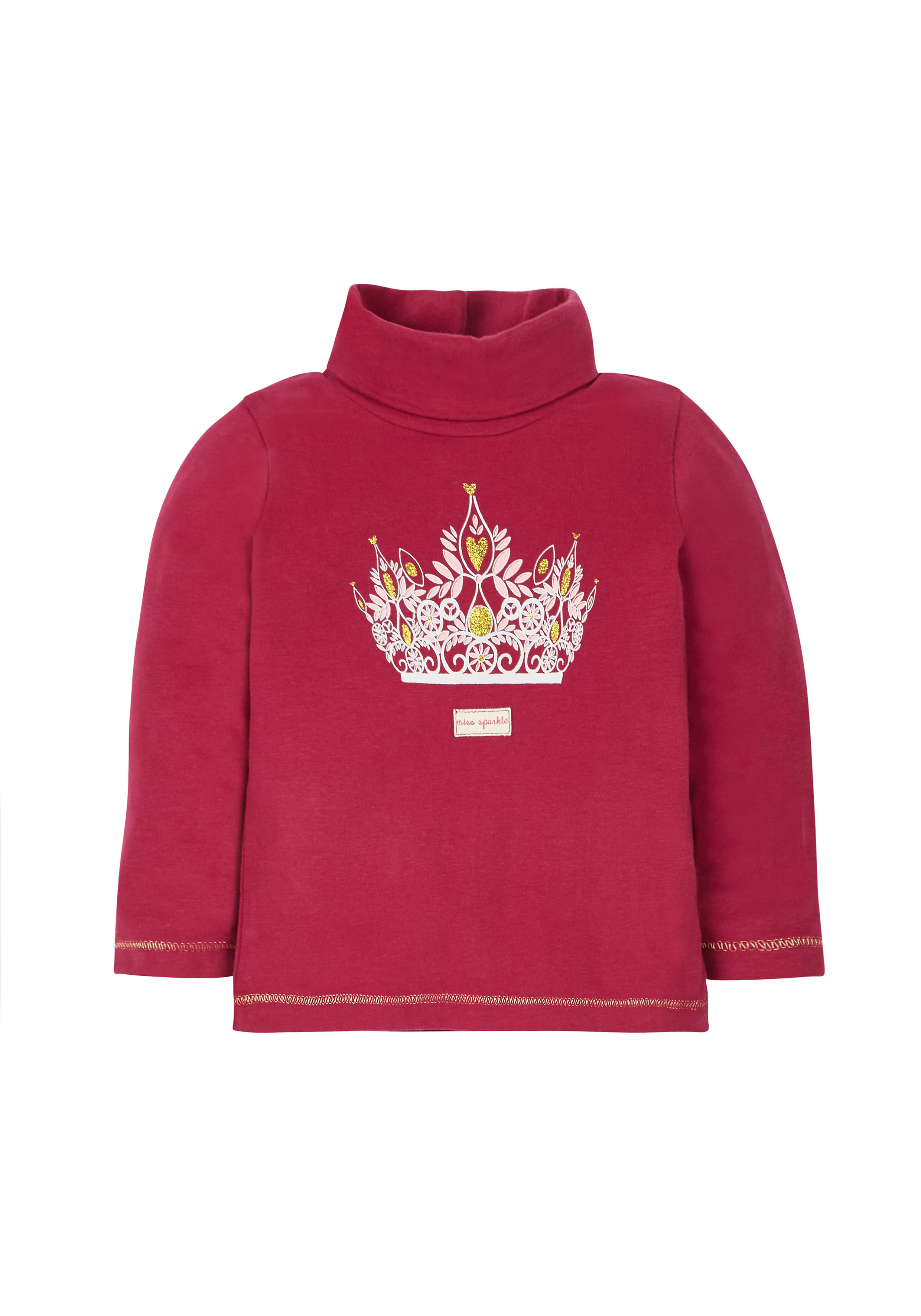 Mothercare   Girls Crown Roll Neck  - Red
