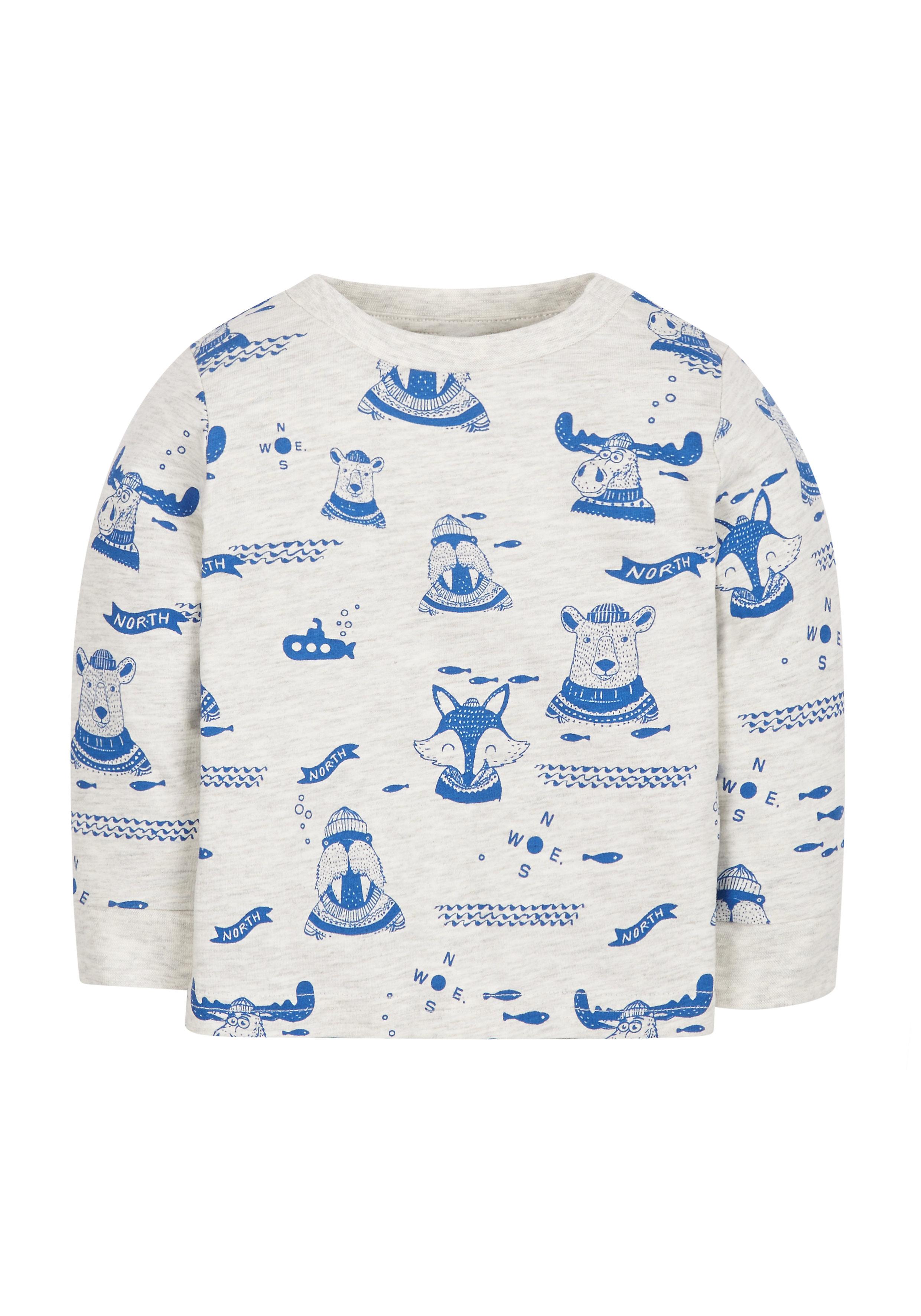 Mothercare   Boys Arctic Animal Print T-Shirt - Beige