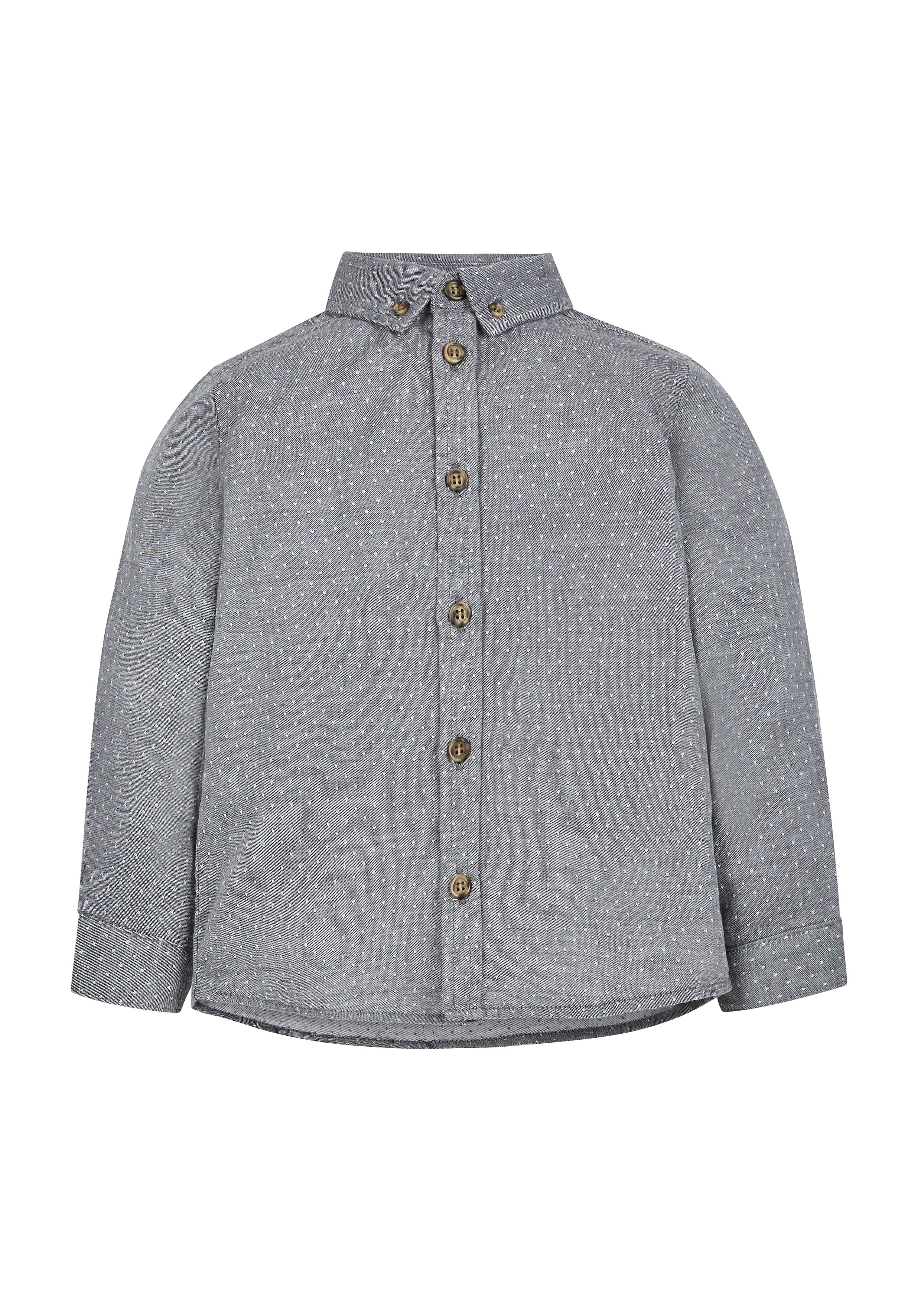 Mothercare   Boys Dobby Shirt - Grey