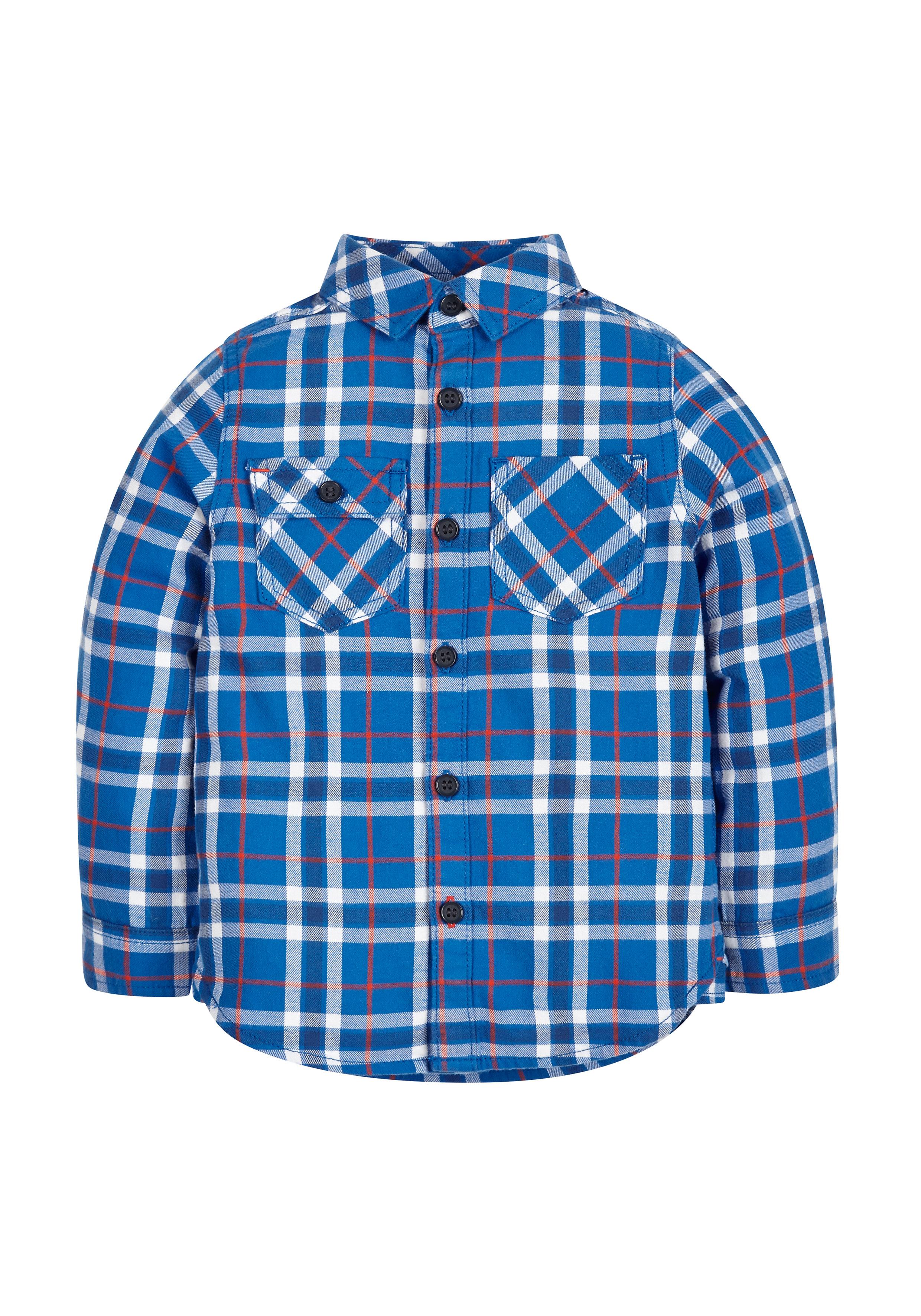 Mothercare | Boys Check Shirt - Blue