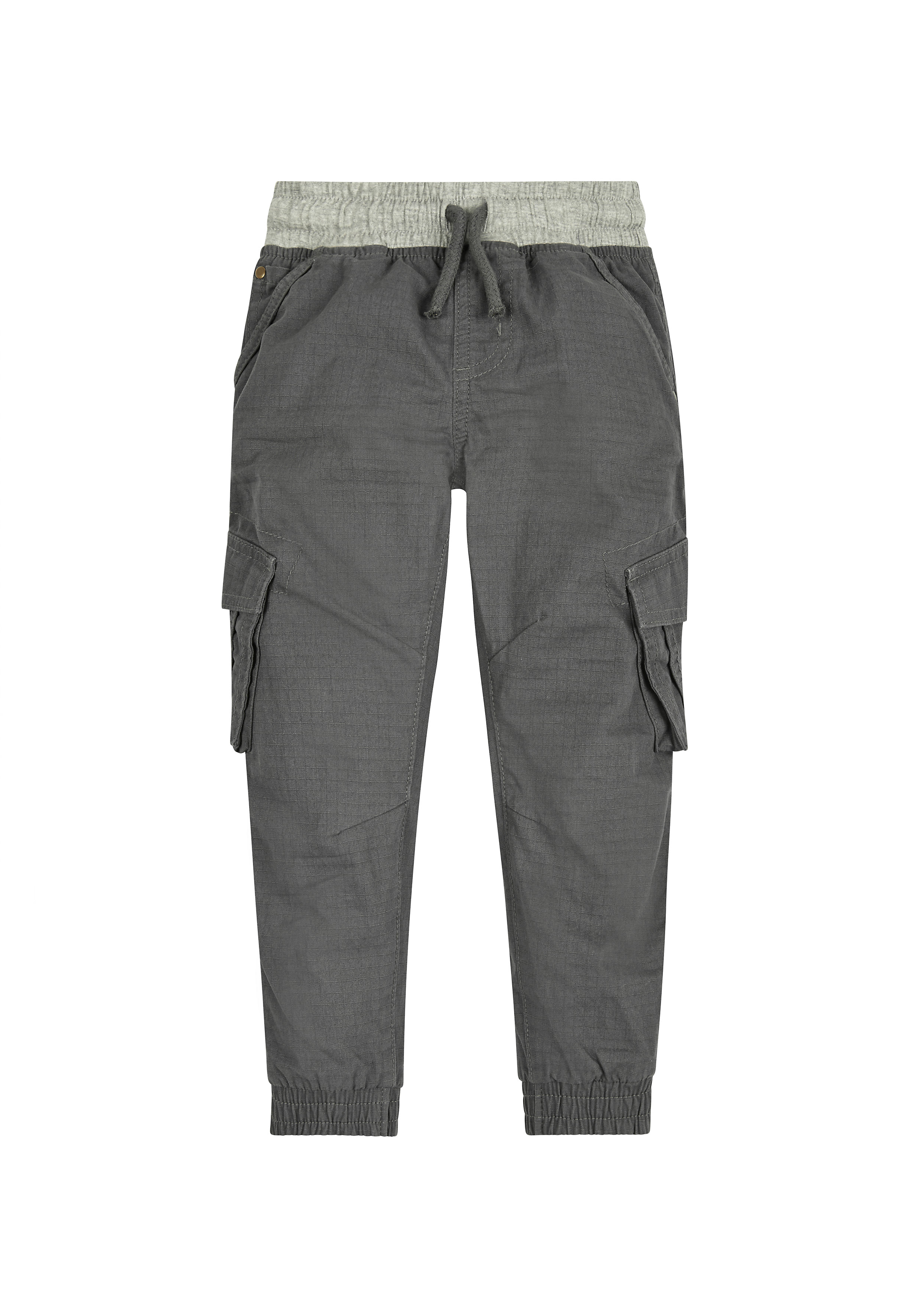 Mothercare | Boys Cargo Trousers Rib Waist - Grey