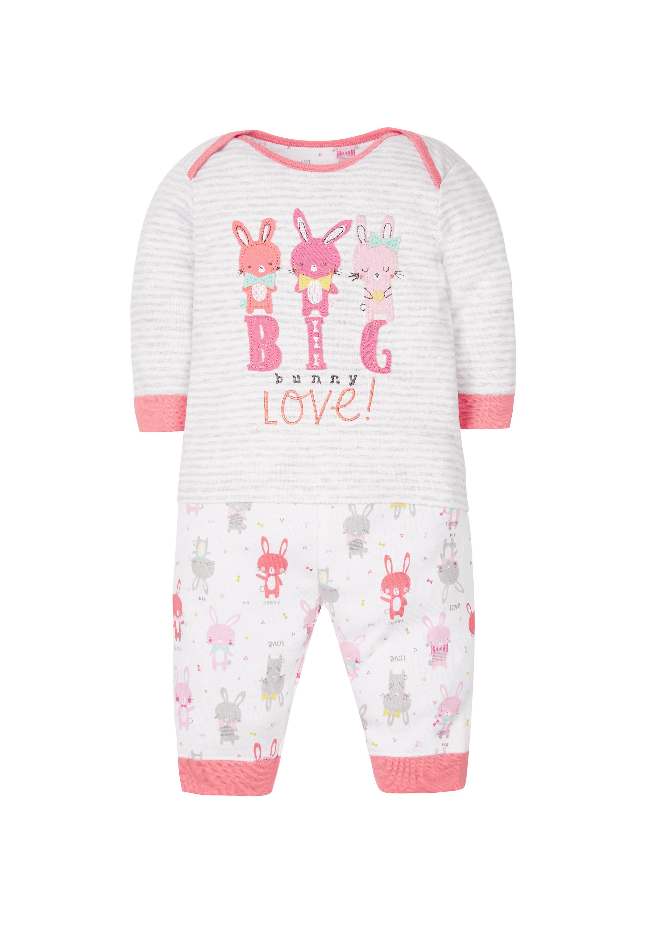 Mothercare   Girls Bunny Love Pyjamas