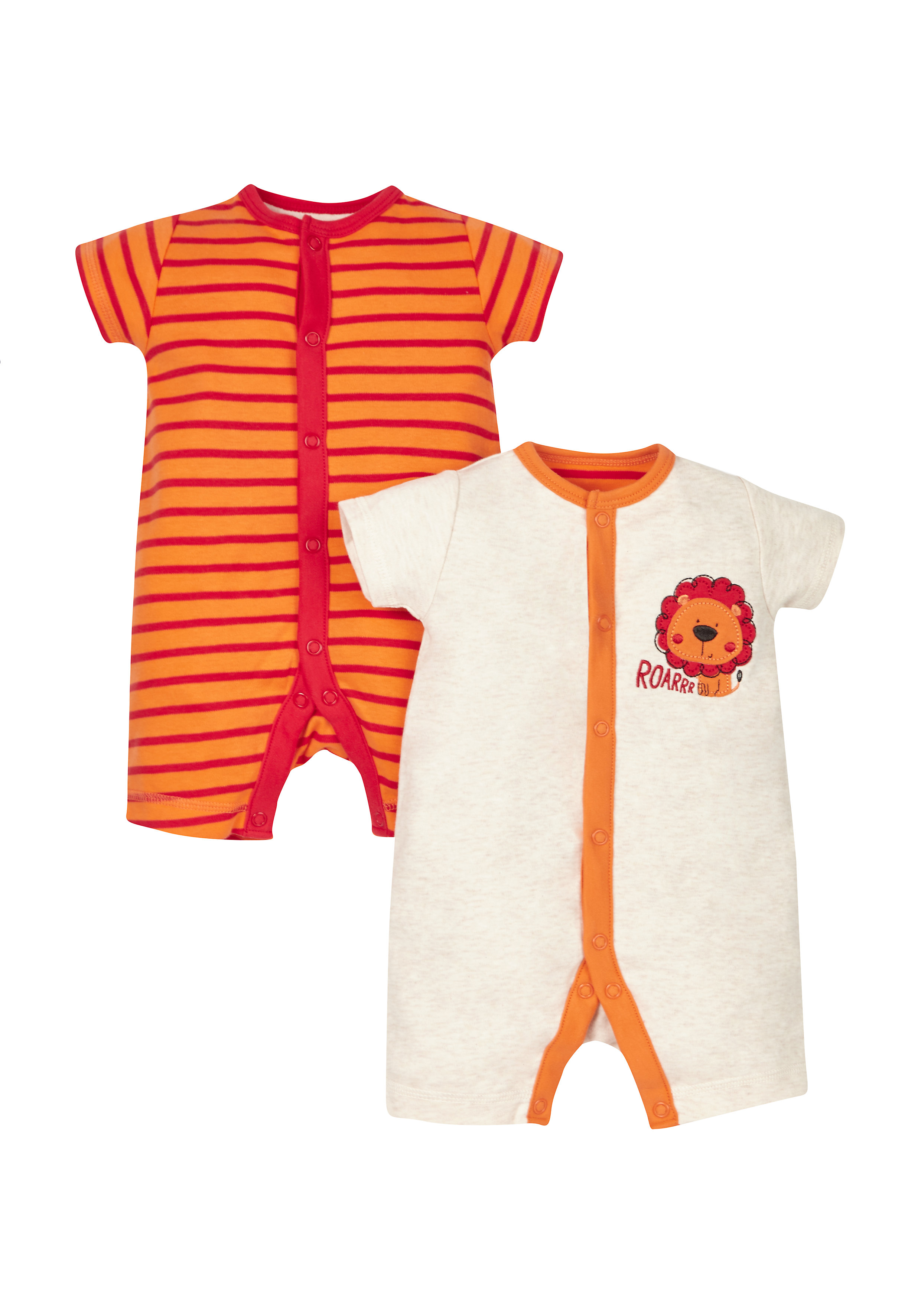 Mothercare | Boys Little Lion Rompers - Pack Of 2