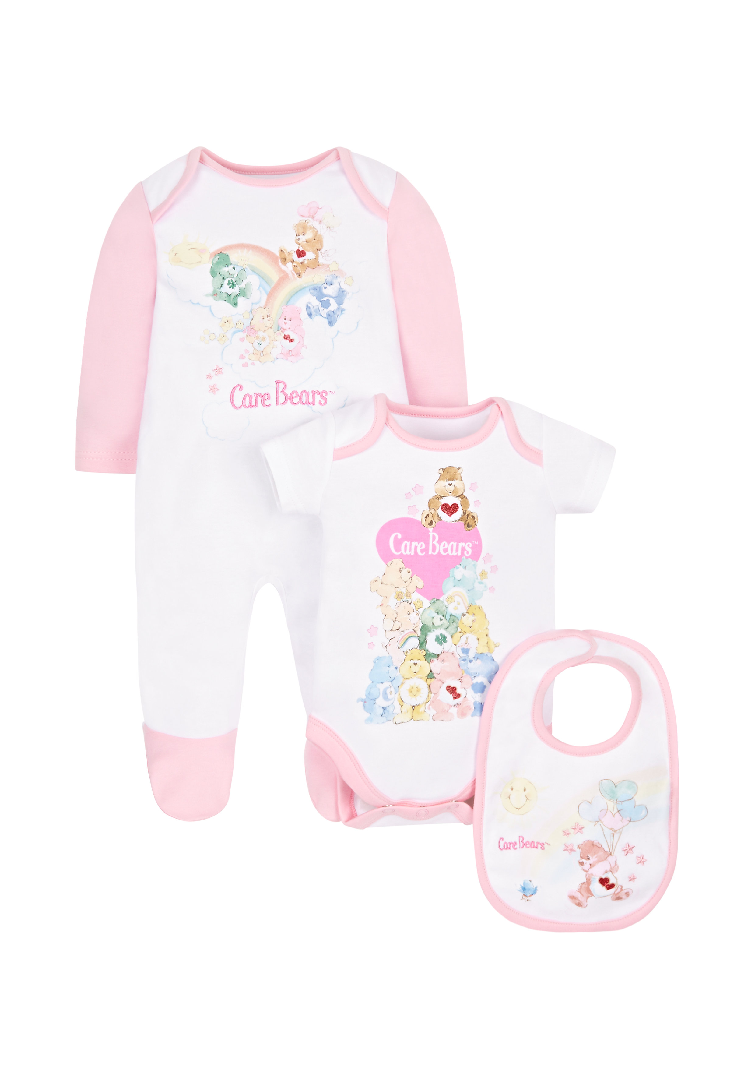 Mothercare | Girls Care Bears 3 Piece Set - Pink