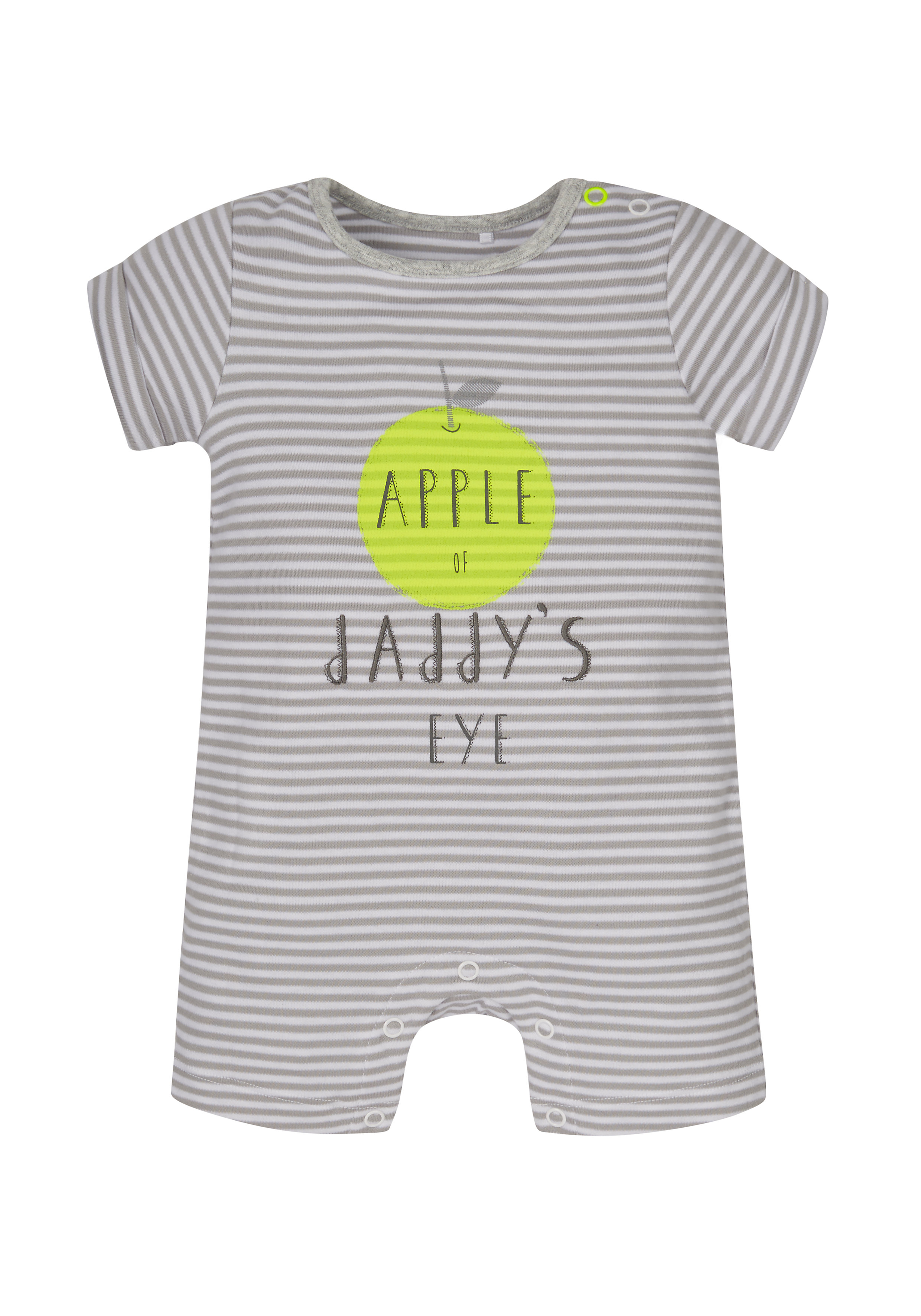 Mothercare | Unisex Text Print Striped Romper