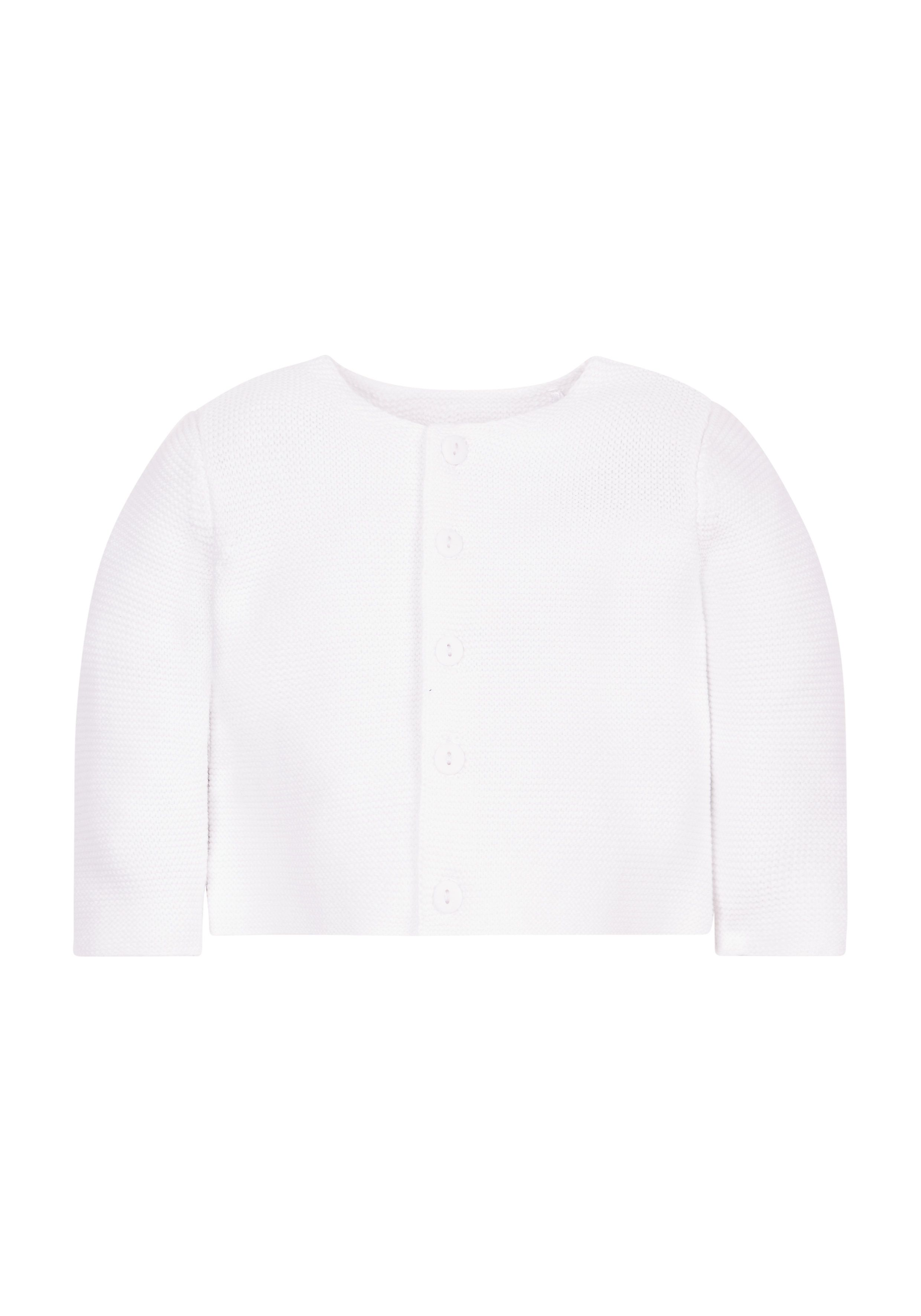 Mothercare | Unisex Purl Knit Cardigan - White