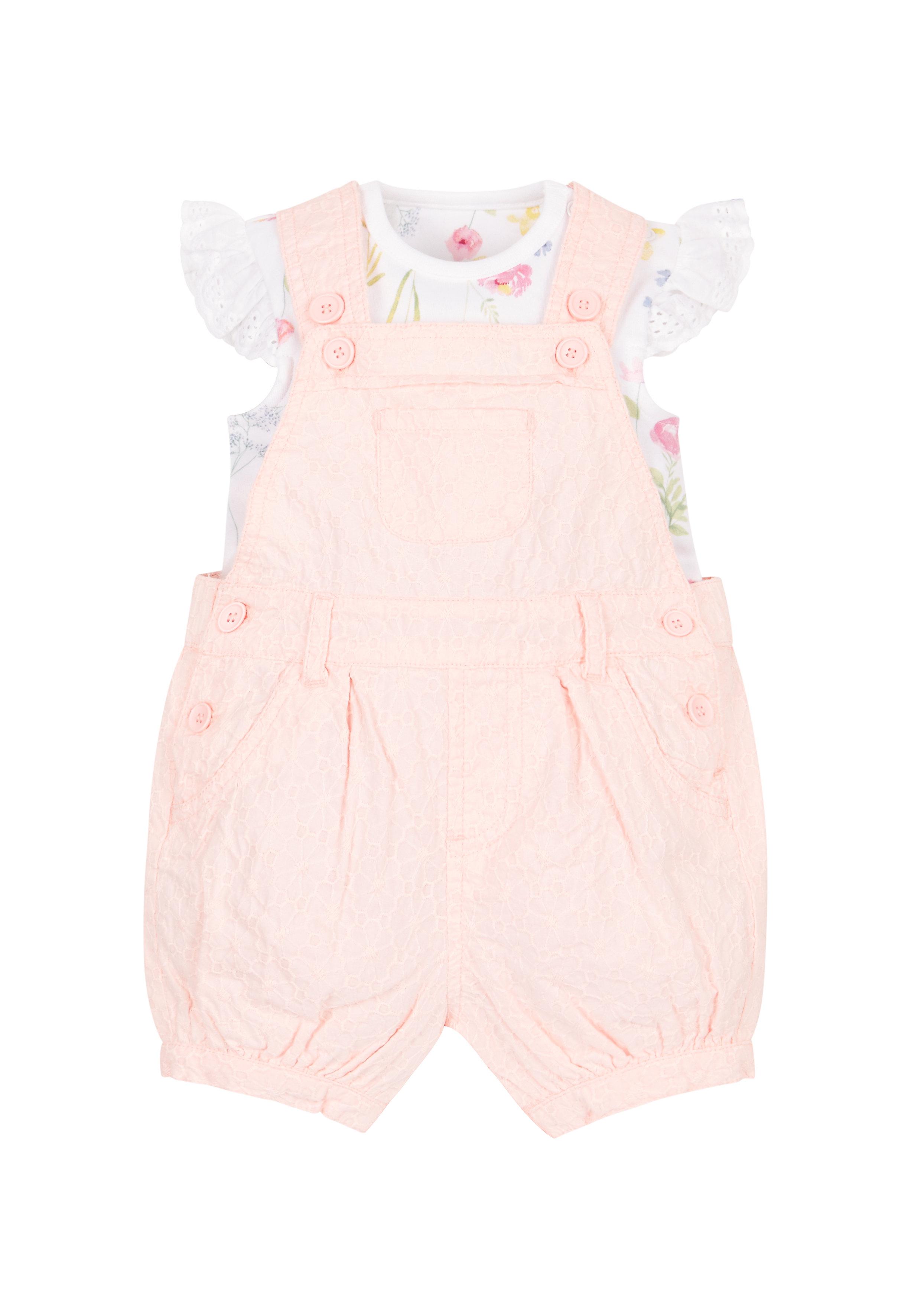 Mothercare   Girls Bodysuit And Bibshorts Set