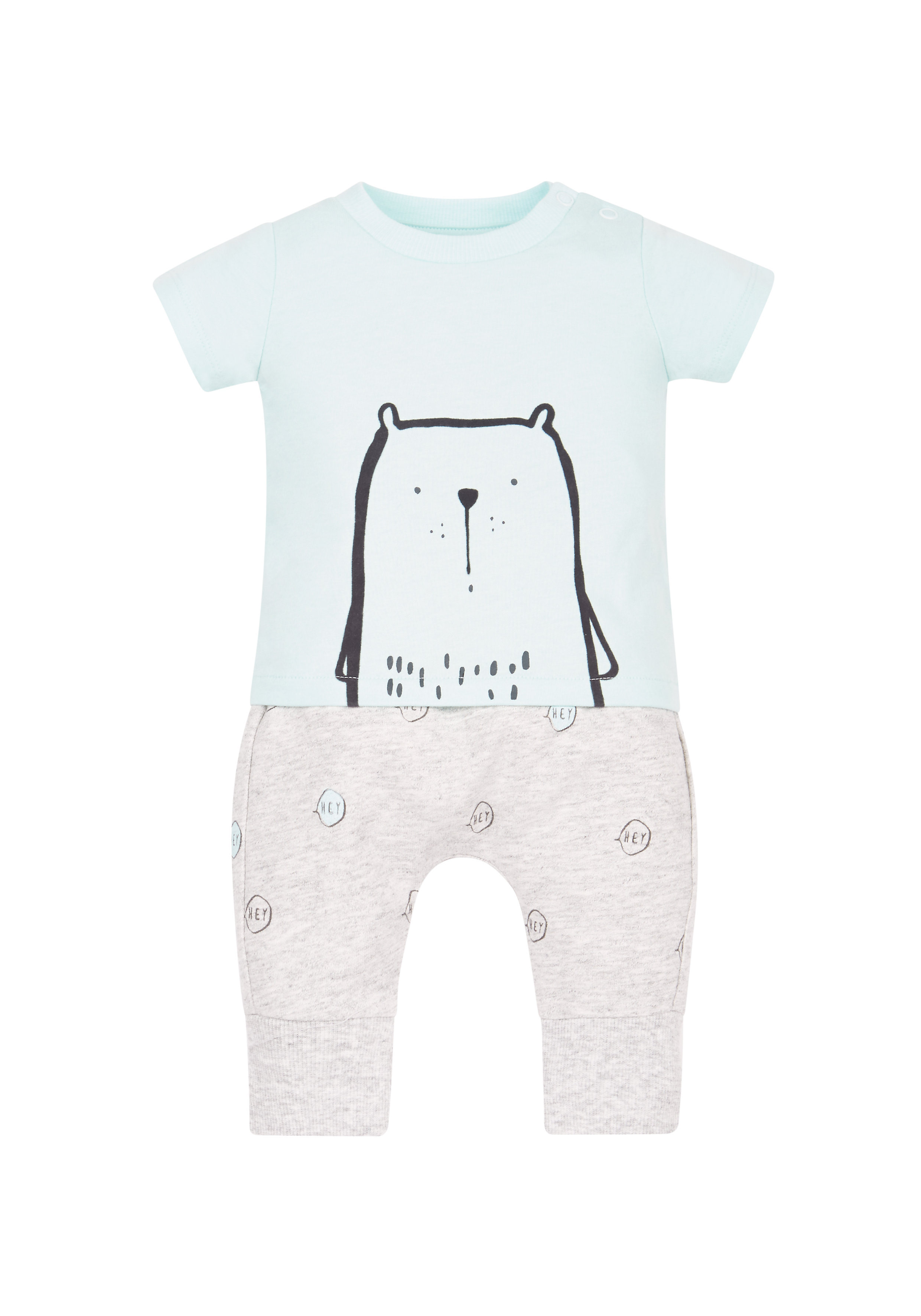 Mothercare | Boys Little Bear T-Shirt And Jogger Set