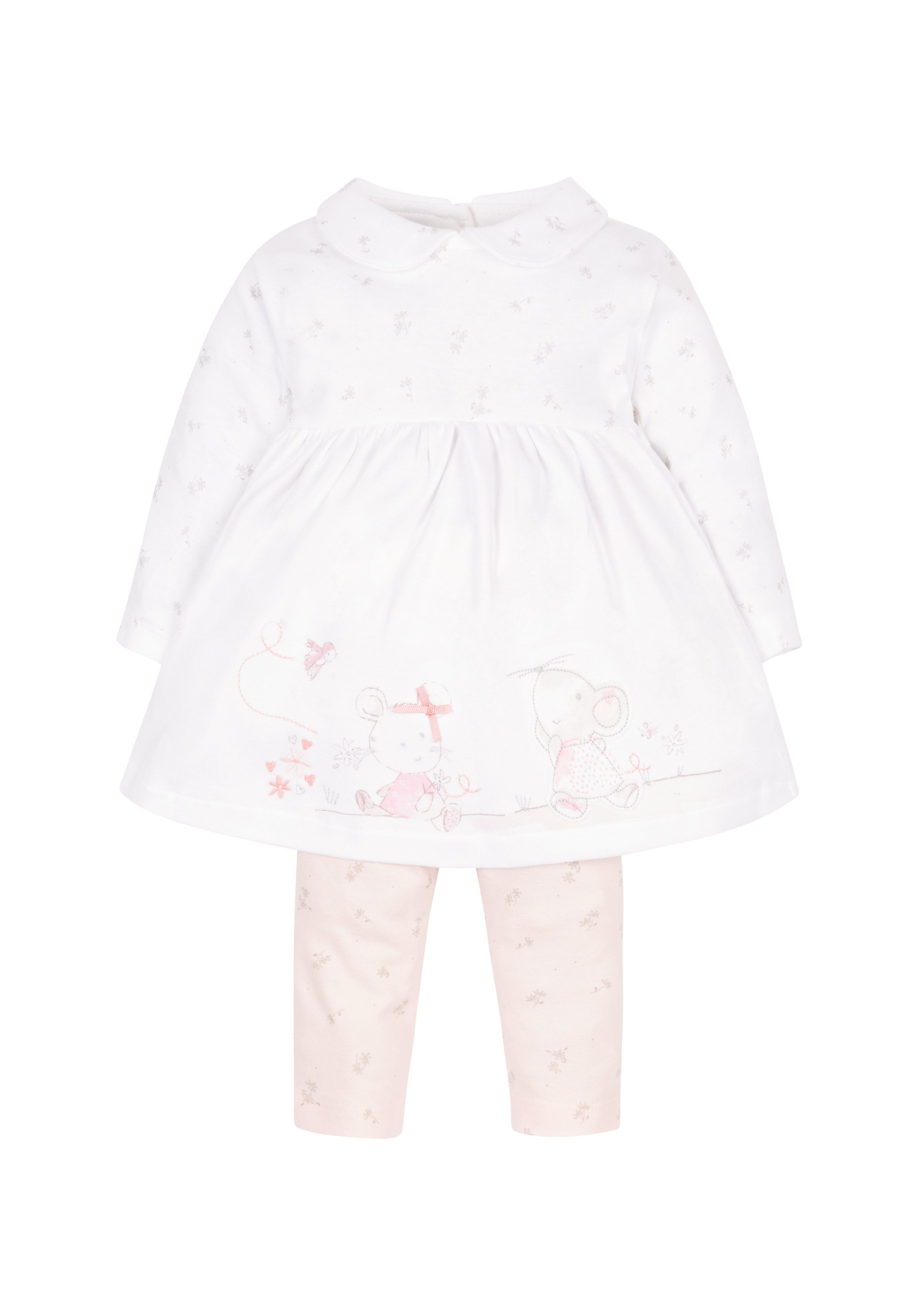 Mothercare | Little Mouse Dress And Leggings Set