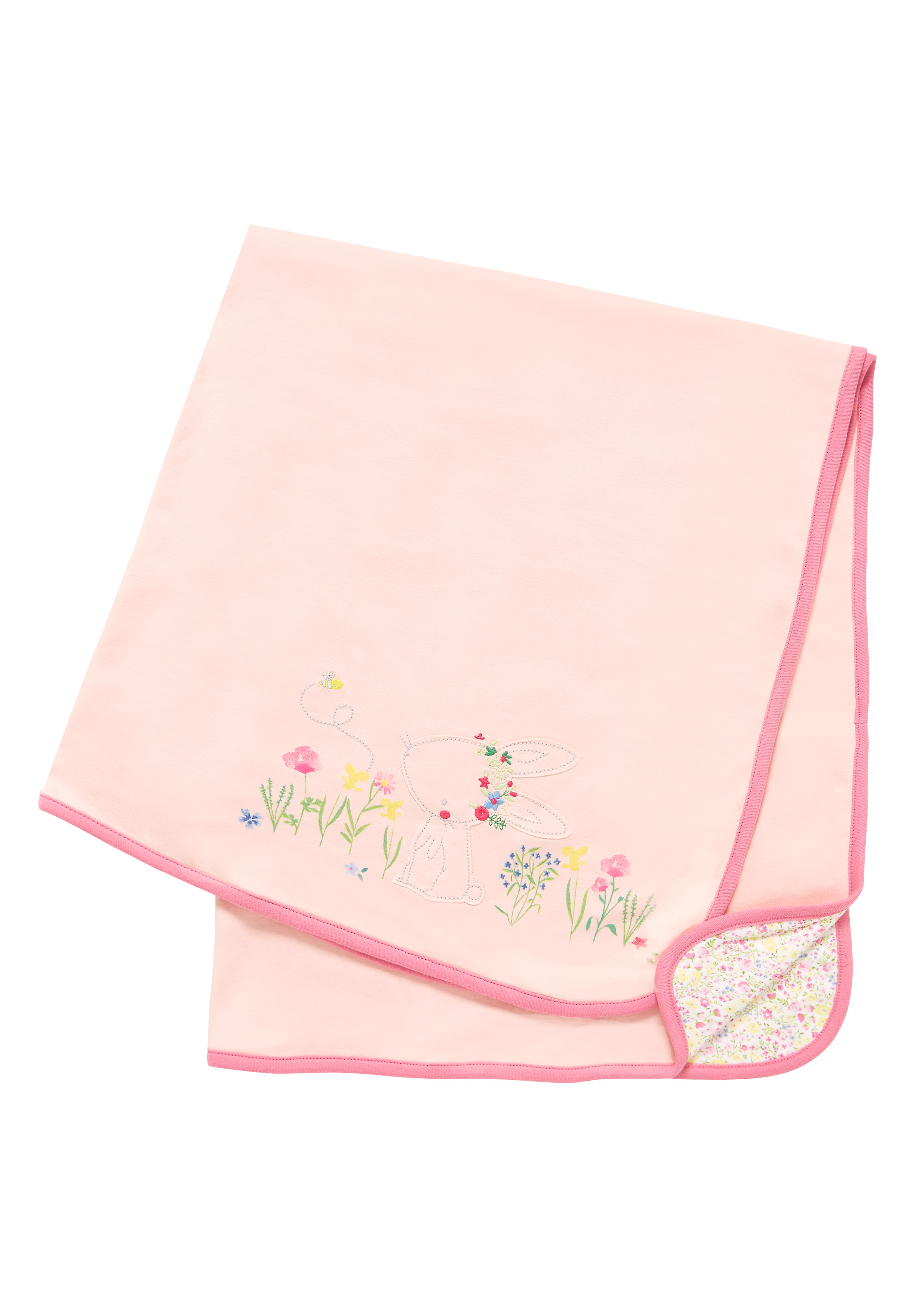 Mothercare | Girls Floral Bunny Shawl