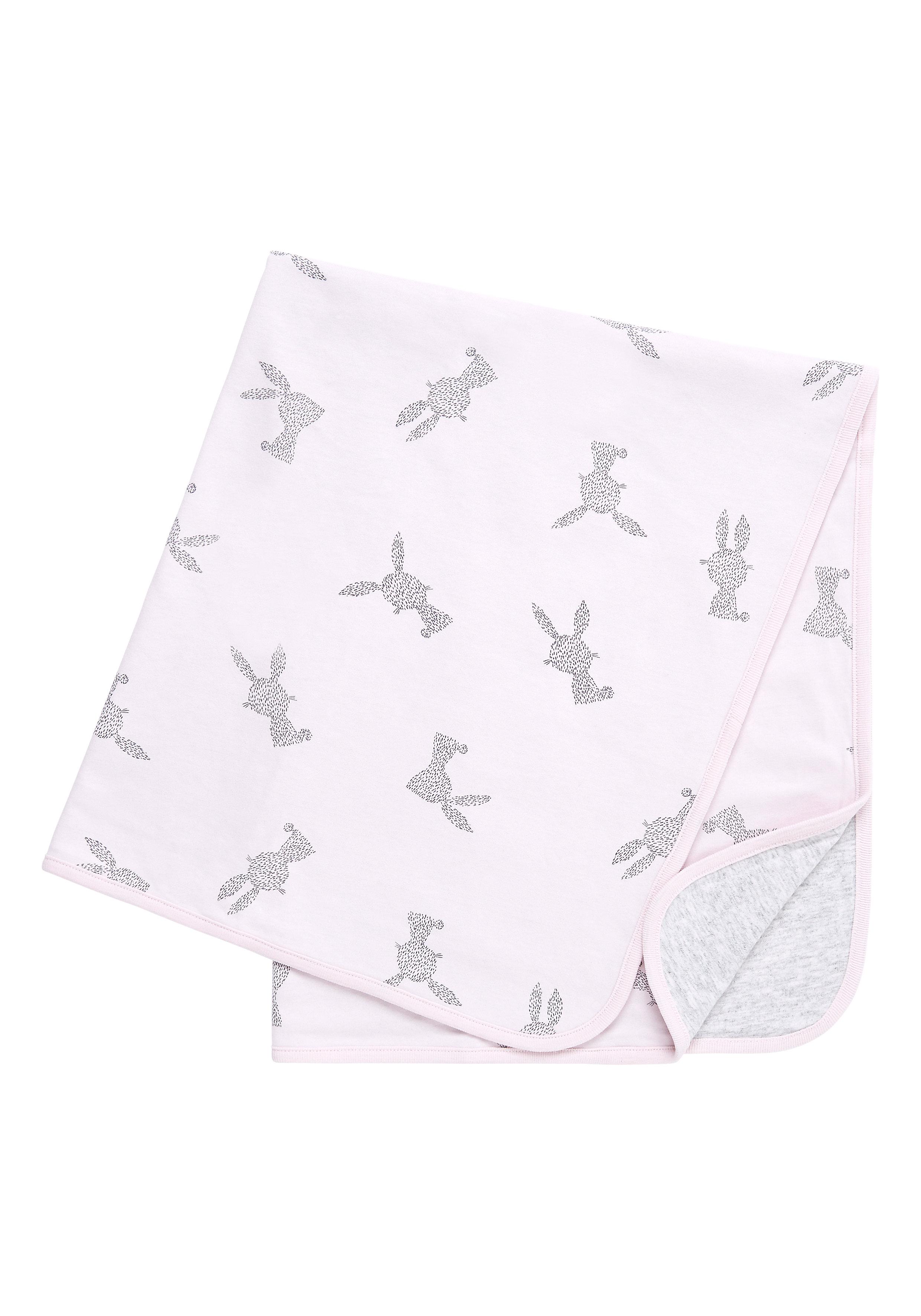 Mothercare | Girls Pretty Bunny Shawl - Pink