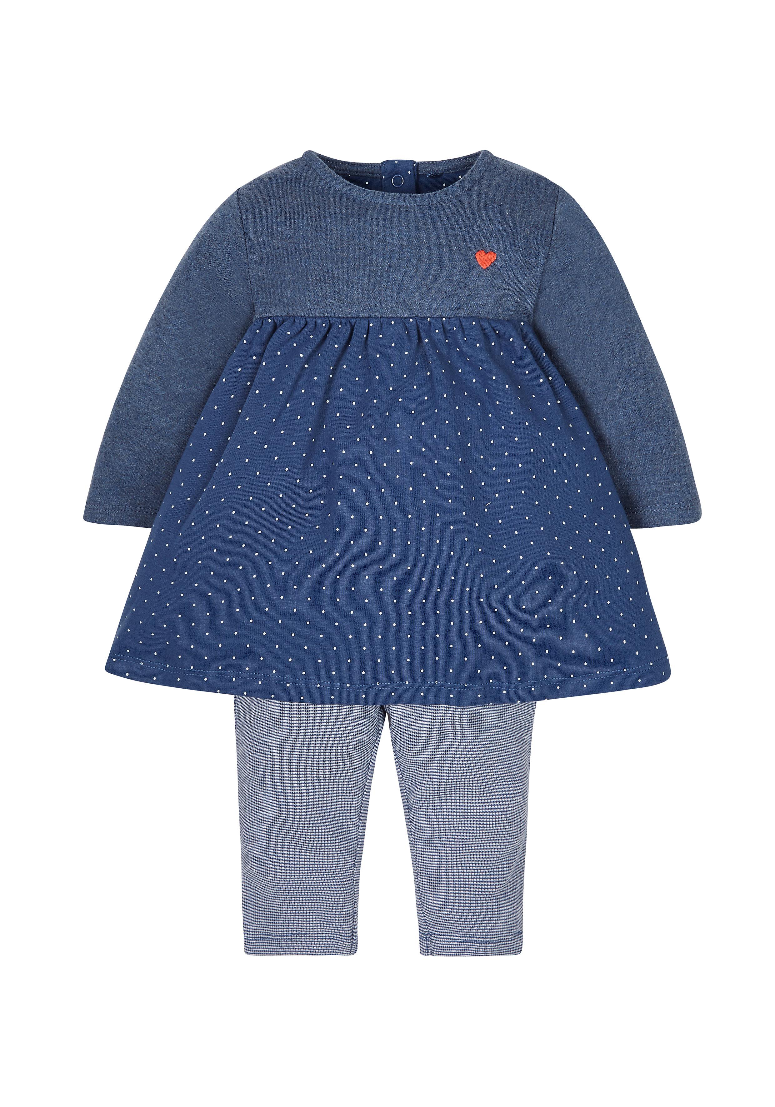 Mothercare   Girls Dress And Leggings Set