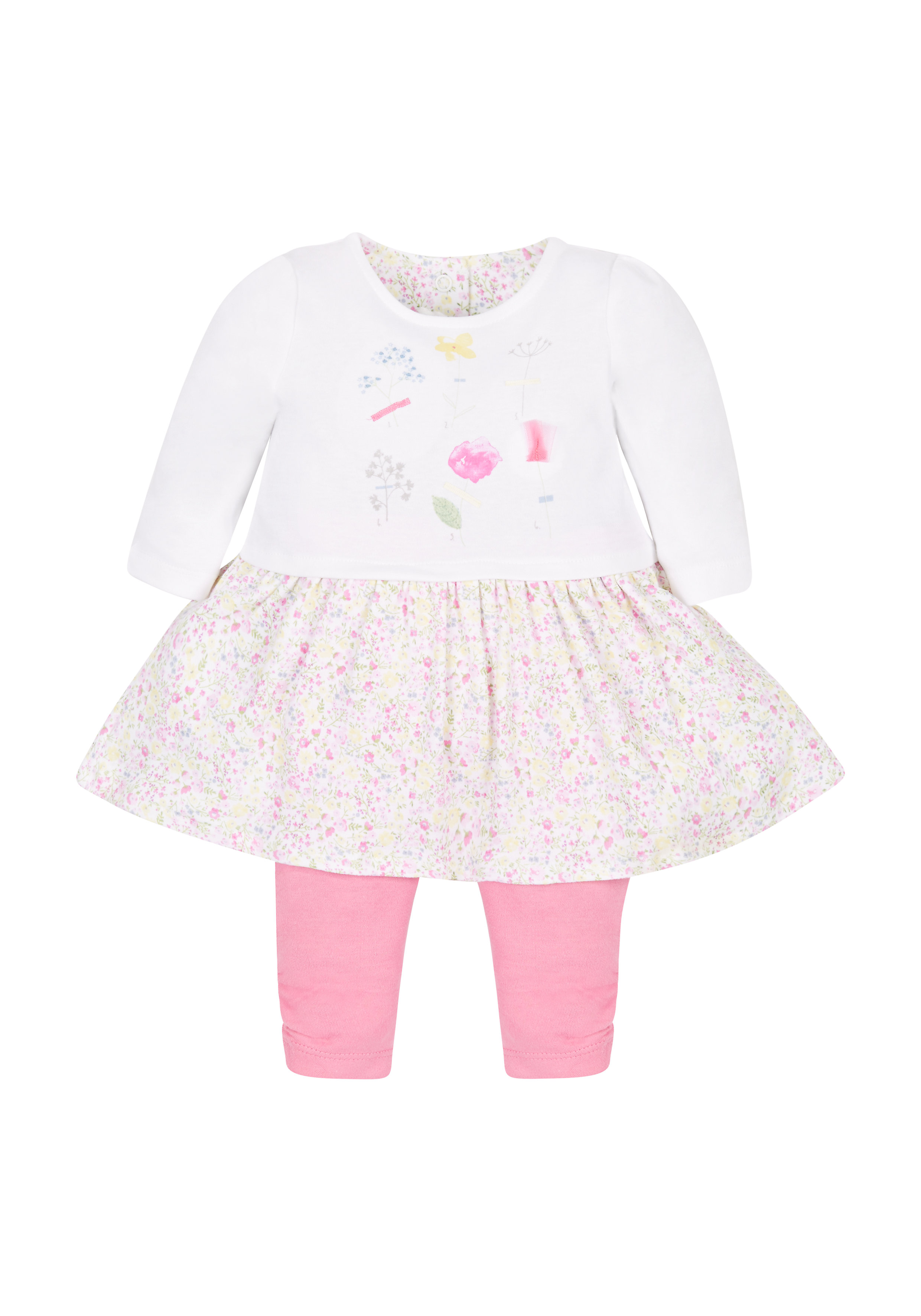 Mothercare | Girls Floral Dress And Leggings Set - Multicolor