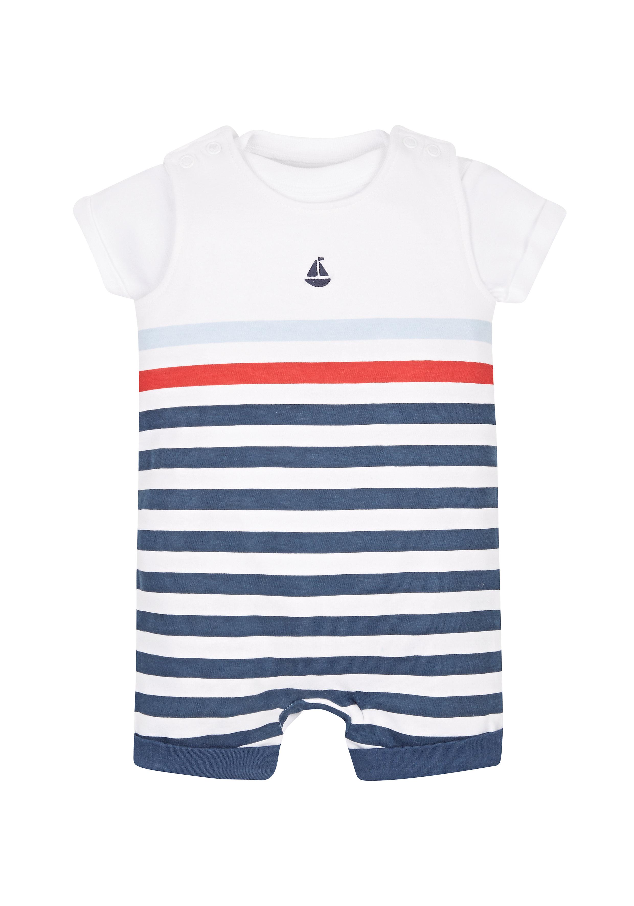 Mothercare | Boys Nautical Dungaree Set