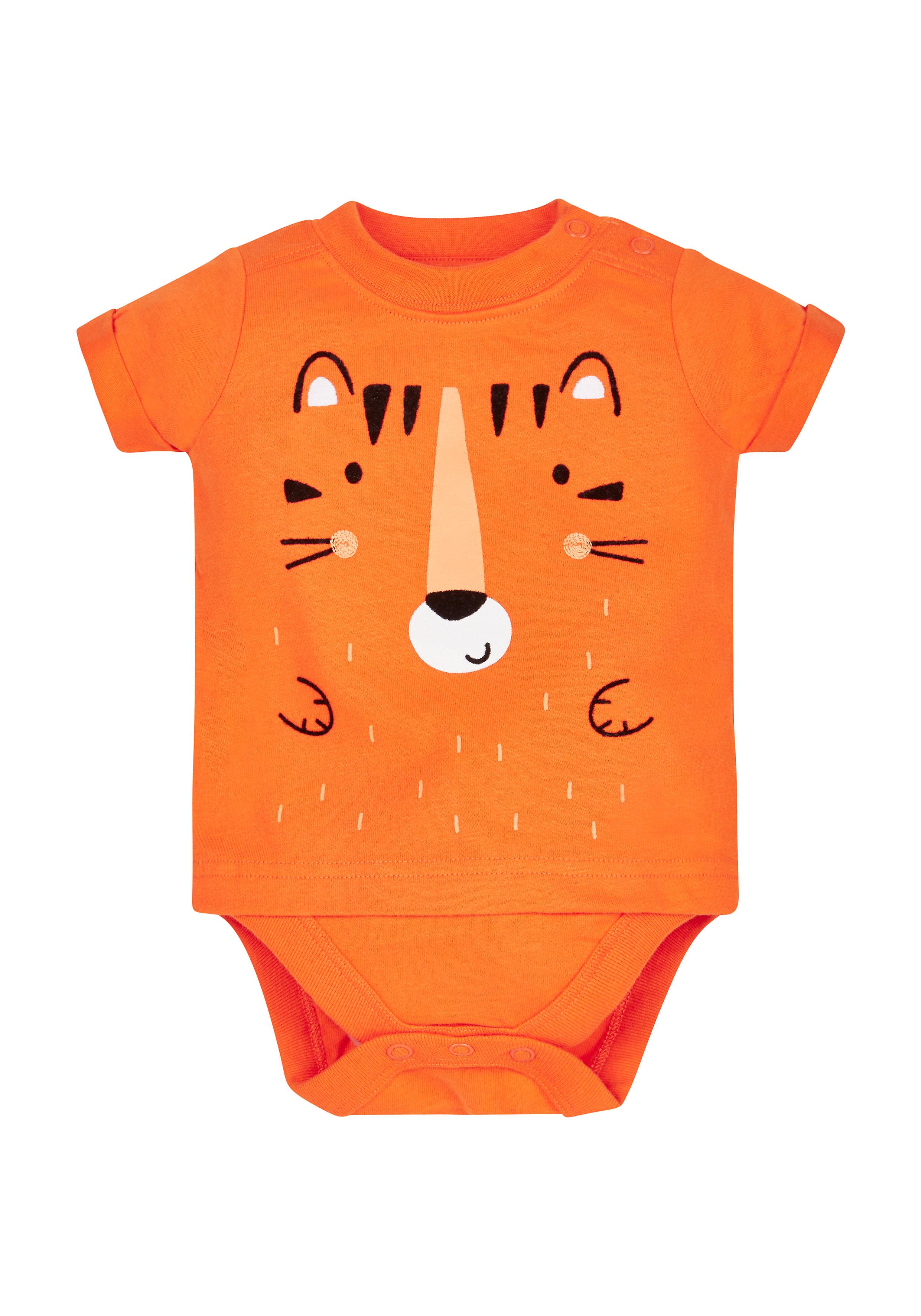 Mothercare | Boys Tiger Bodysuit - Orange