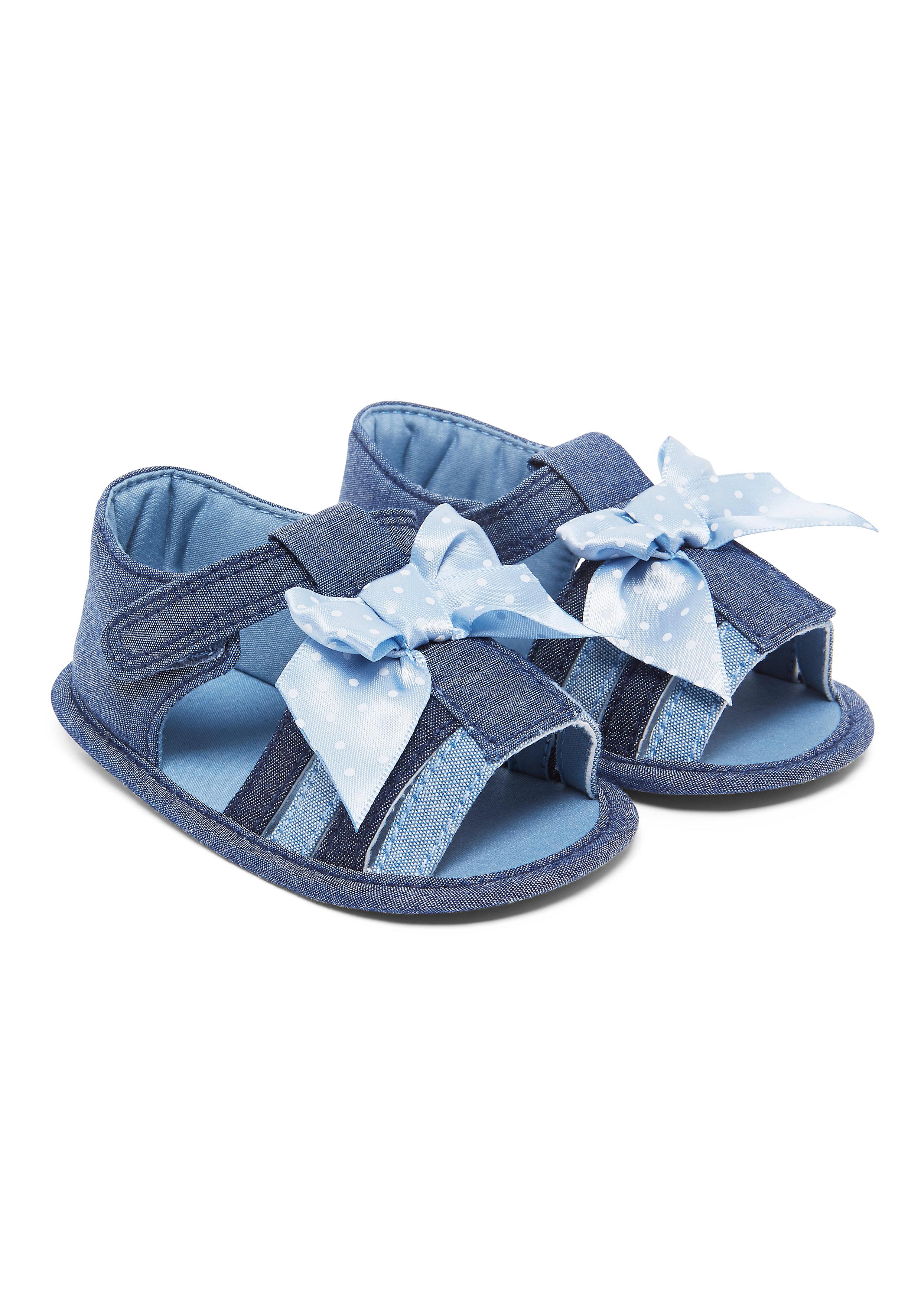 Mothercare | Girls Denim Sandals - Blue