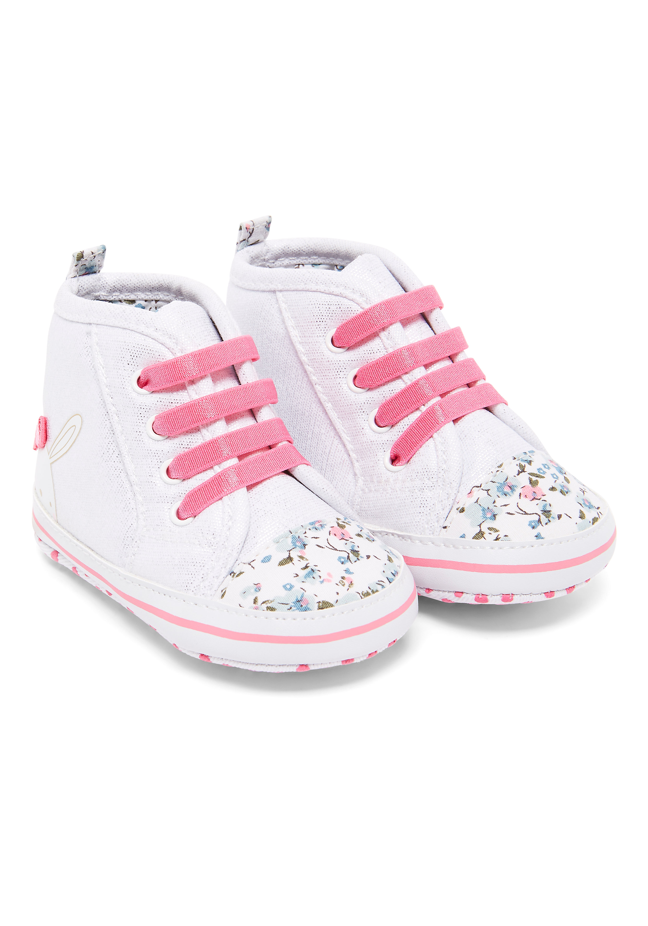 Mothercare | Girls Floral Bunnt Hi Top Shoes