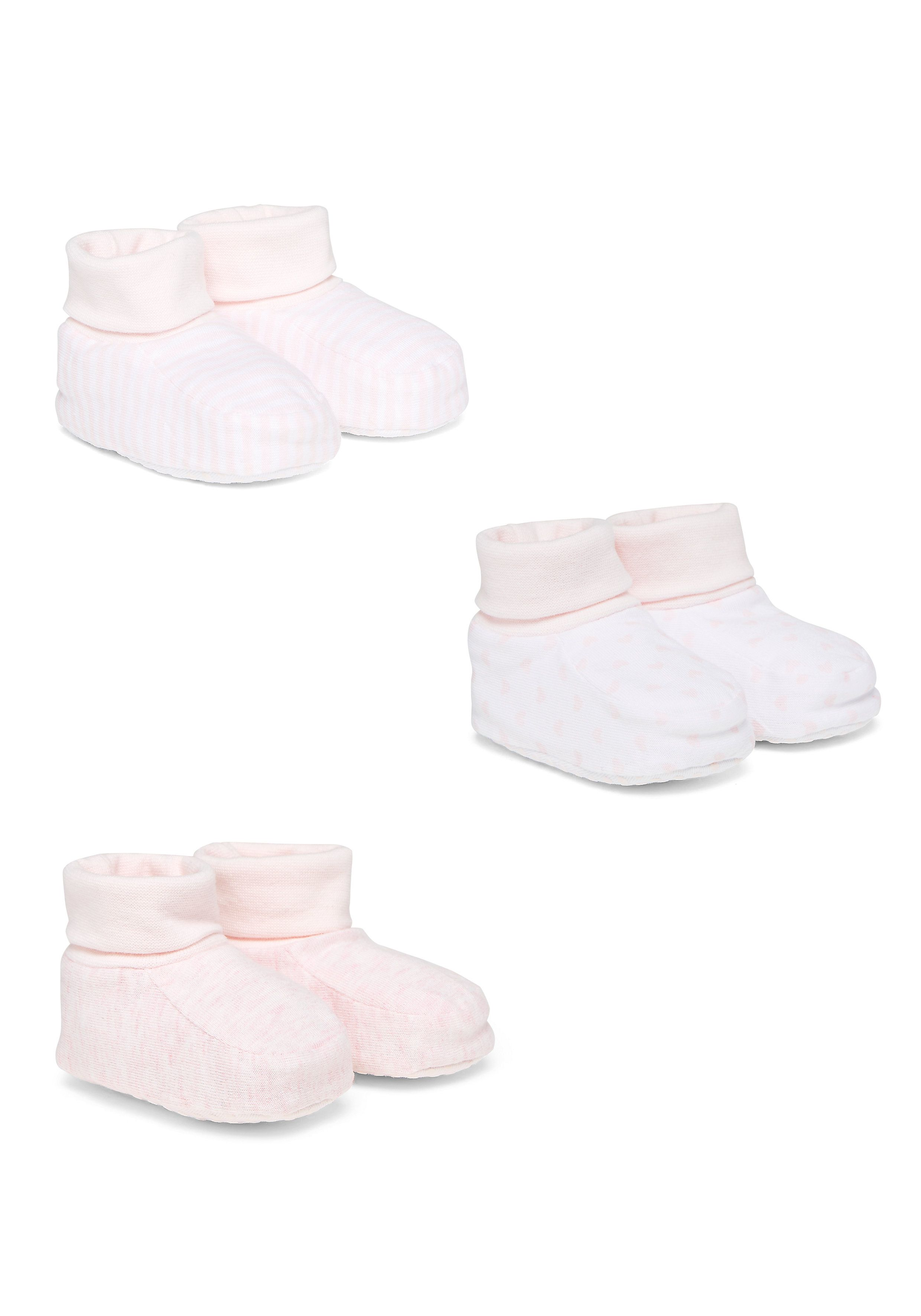 Mothercare | Stripy, Star And Plain Booties - 3 Pack