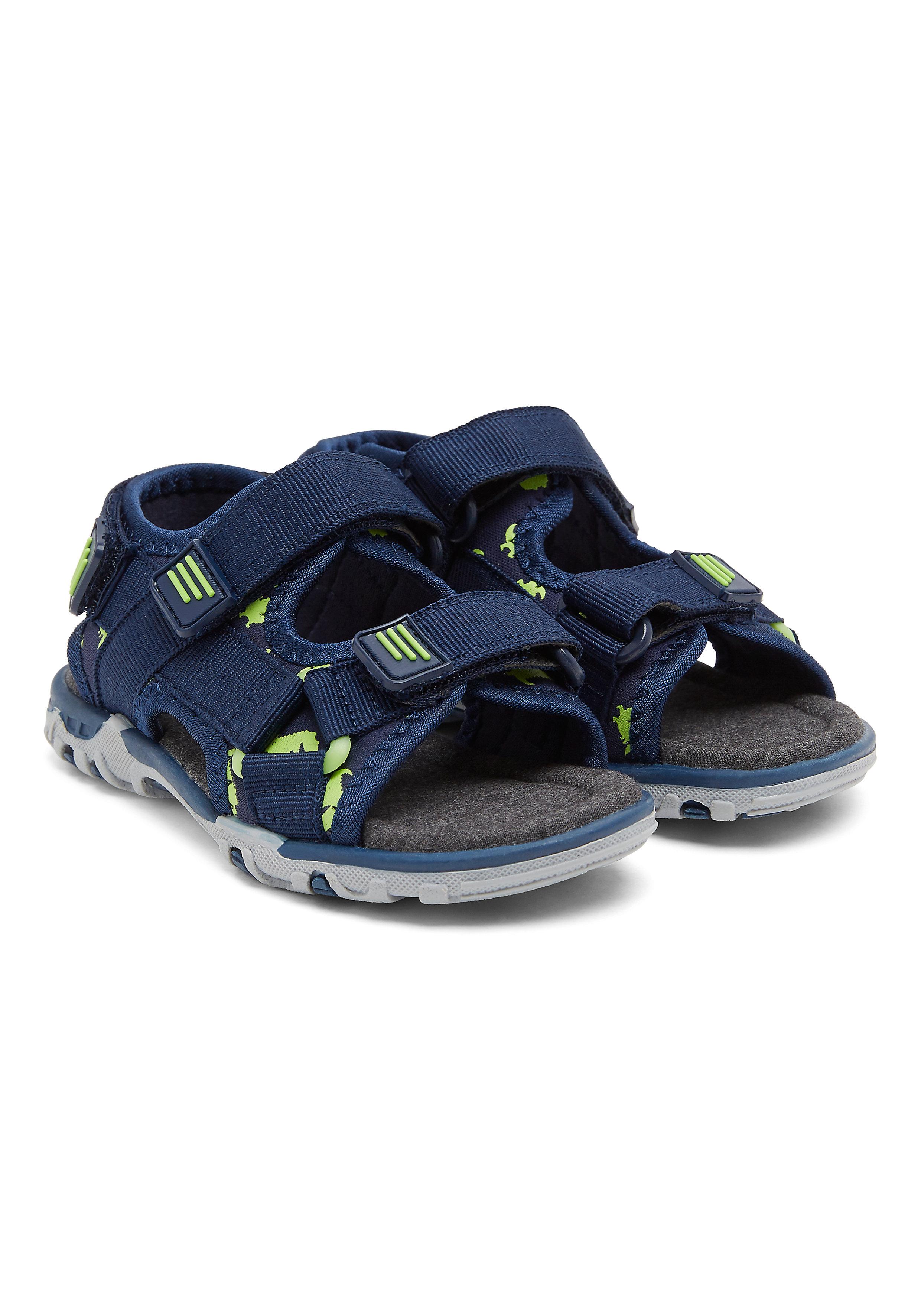 Mothercare | Navy Boys Blue Dinosaur Print Trekker Sandals