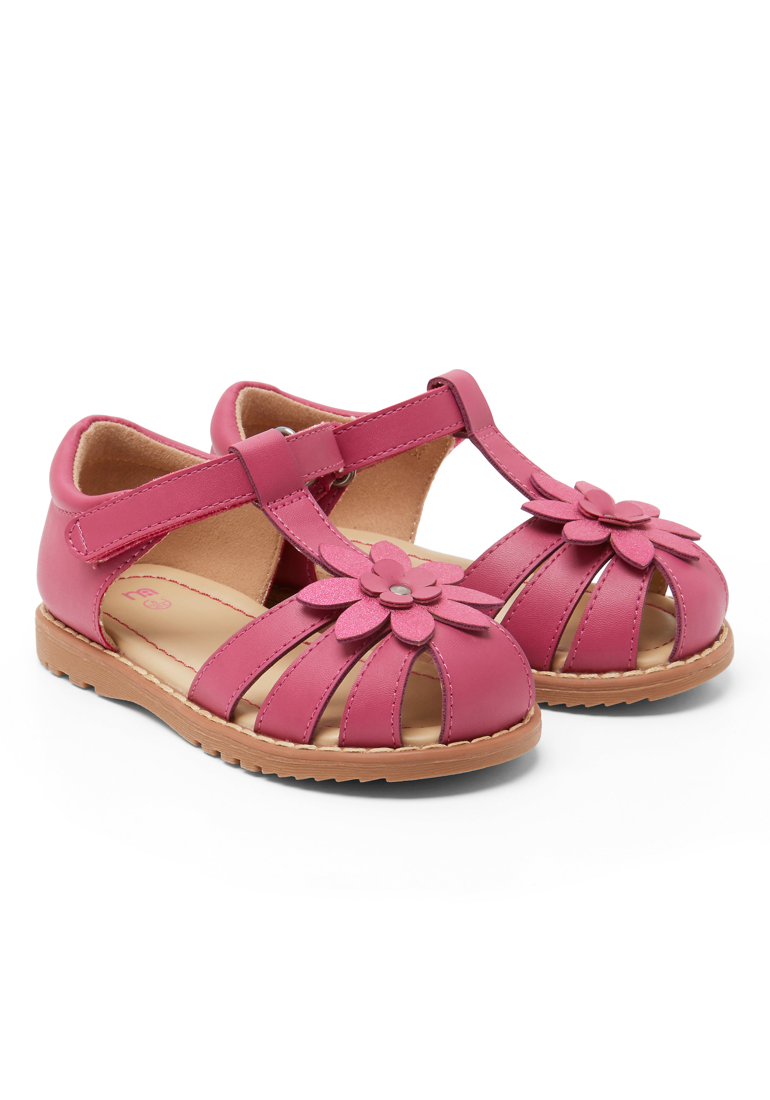 Mothercare   Girls Closed Toe Flower Sandals - Pink