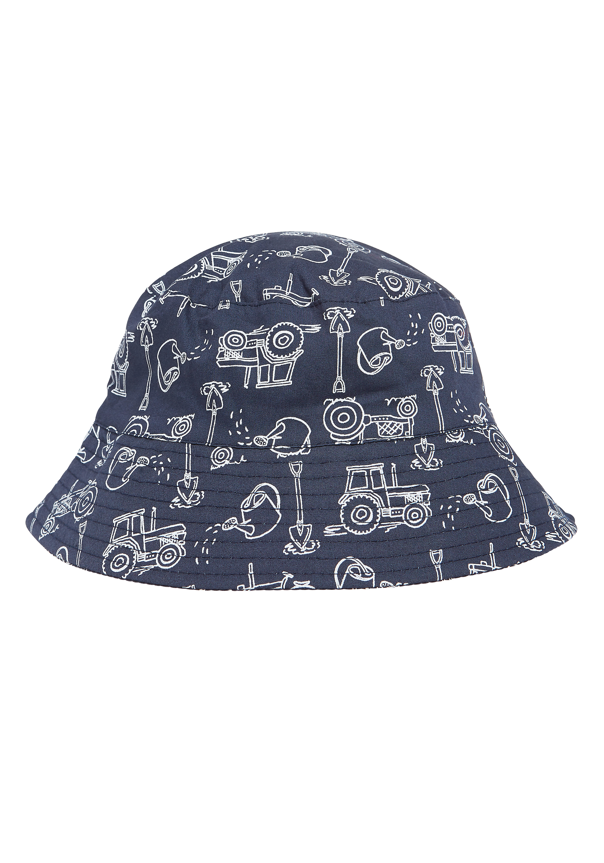 Mothercare | Boys Tractor Fisherman Hat - White