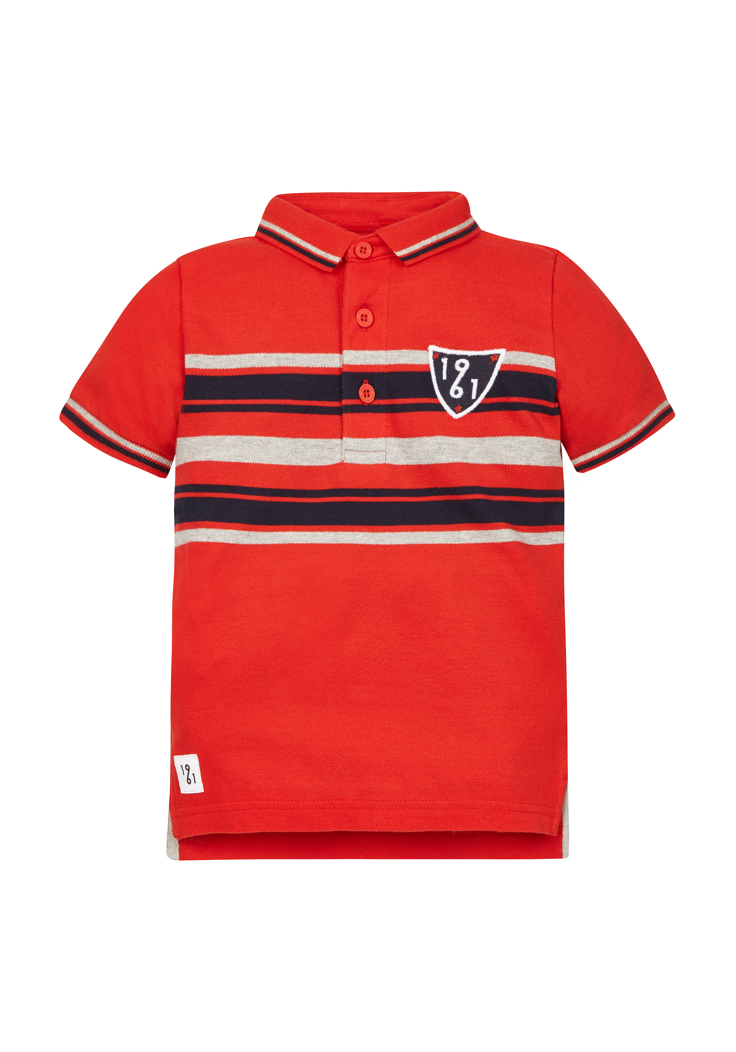 Mothercare | Boys Red Striped Polo Shirt - Red